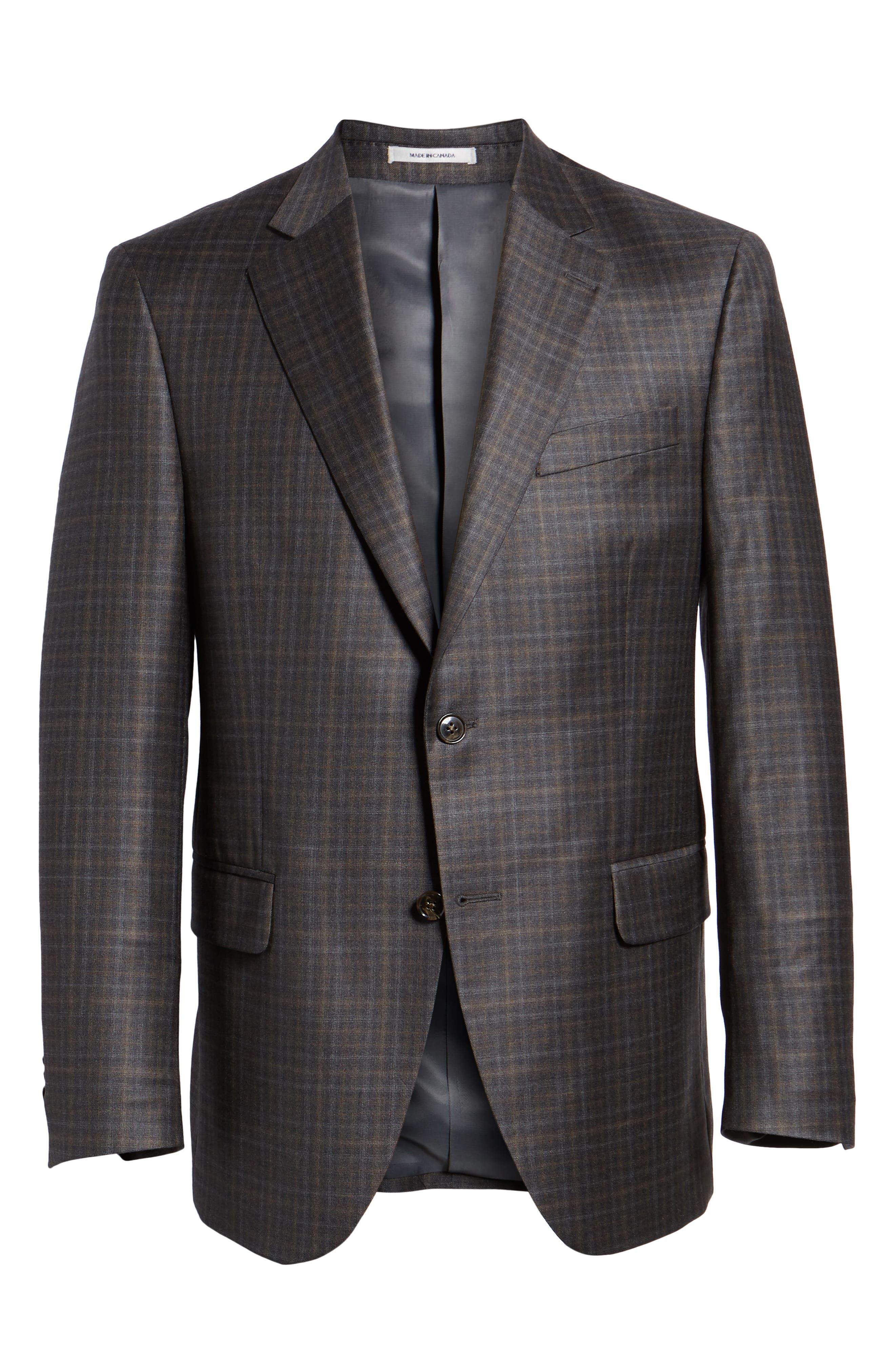 Classic Fit Wool Sport Coat,                             Alternate thumbnail 5, color,                             BROWN