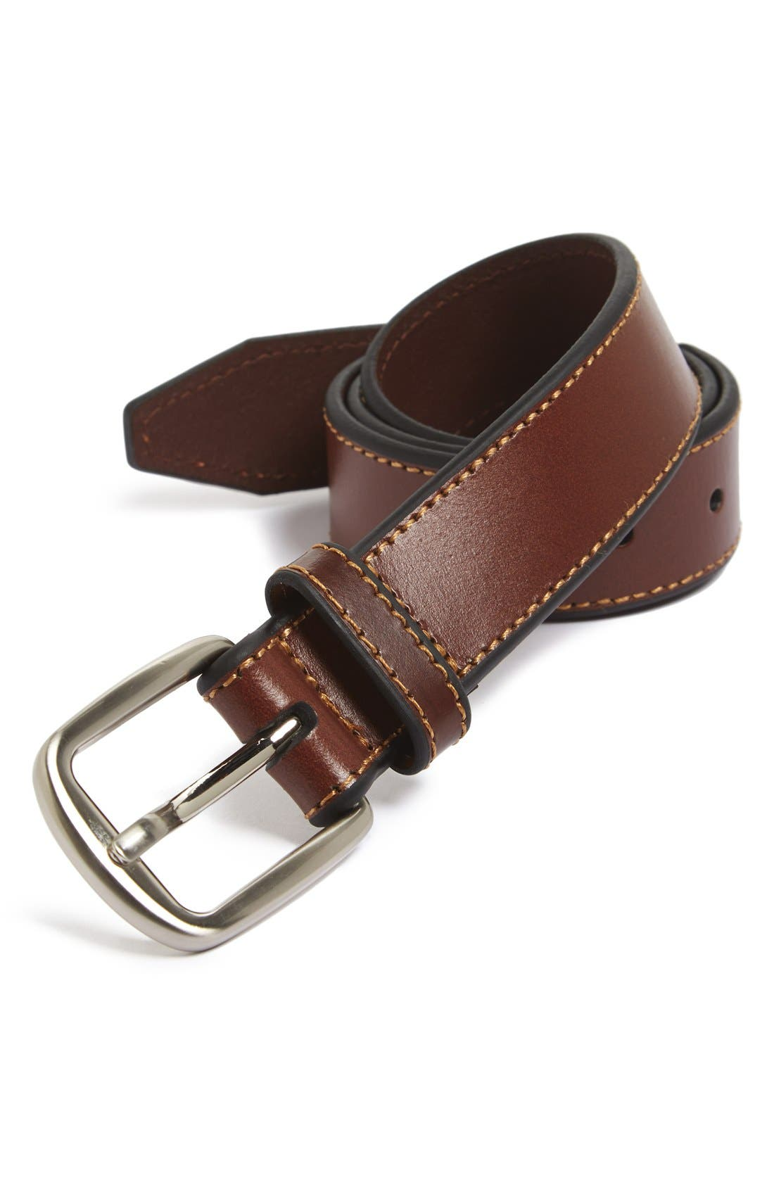 'Fenny' Leather Belt, Main, color, 235
