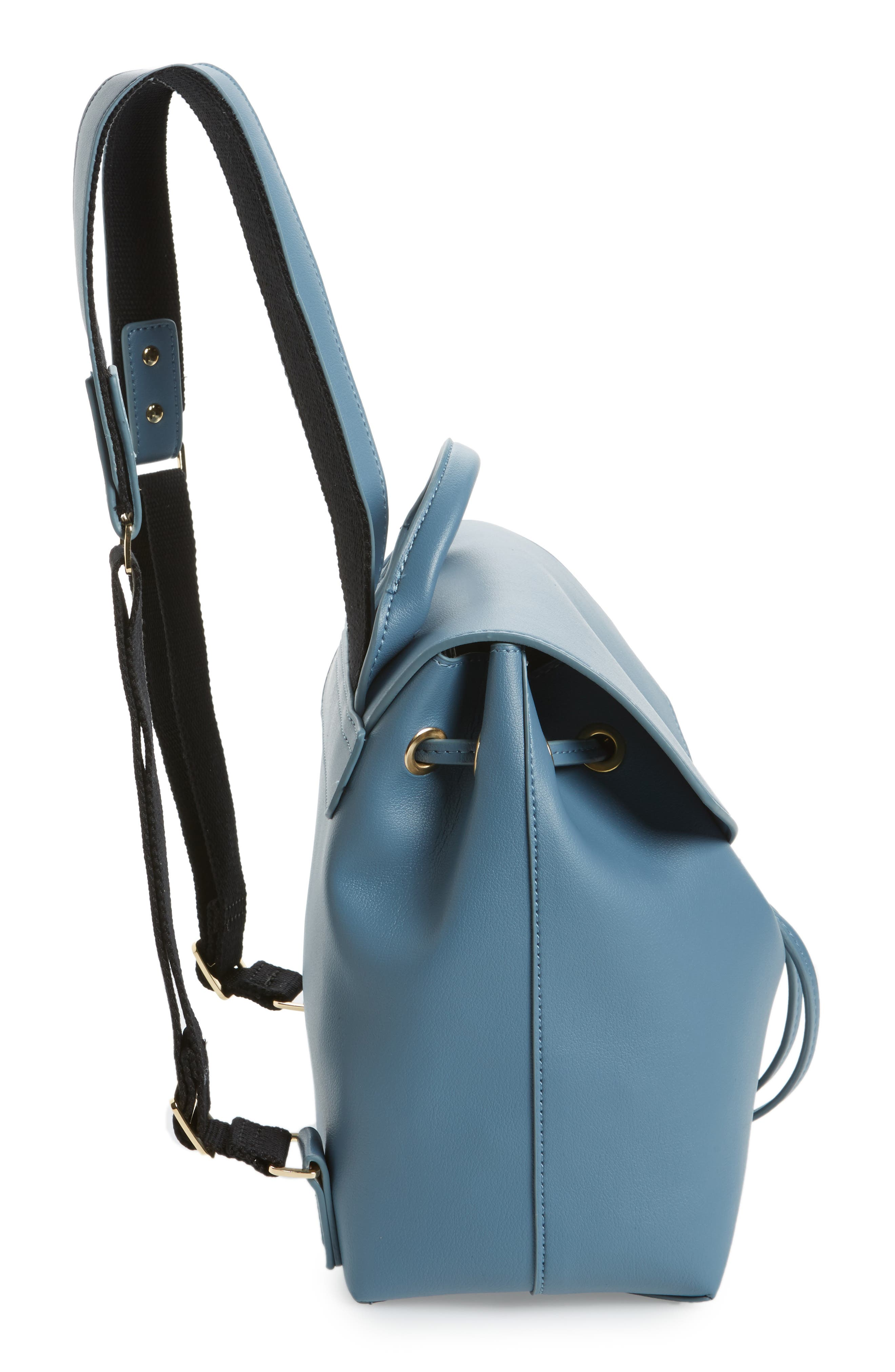 Blake Mini Faux Leather Backpack,                             Alternate thumbnail 10, color,