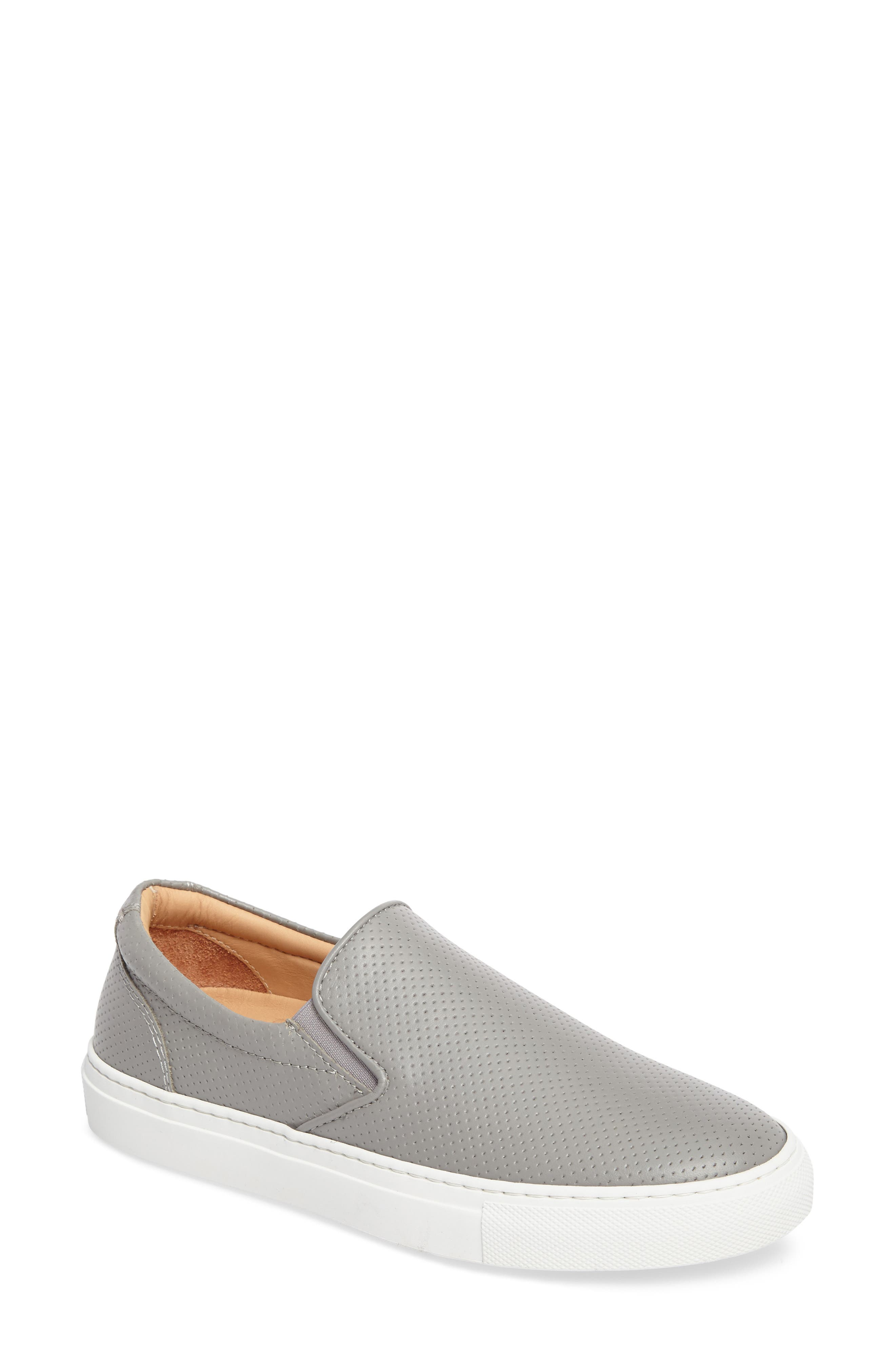 Wooster Slip-On Sneaker,                             Main thumbnail 1, color,                             GREY PERFORATED