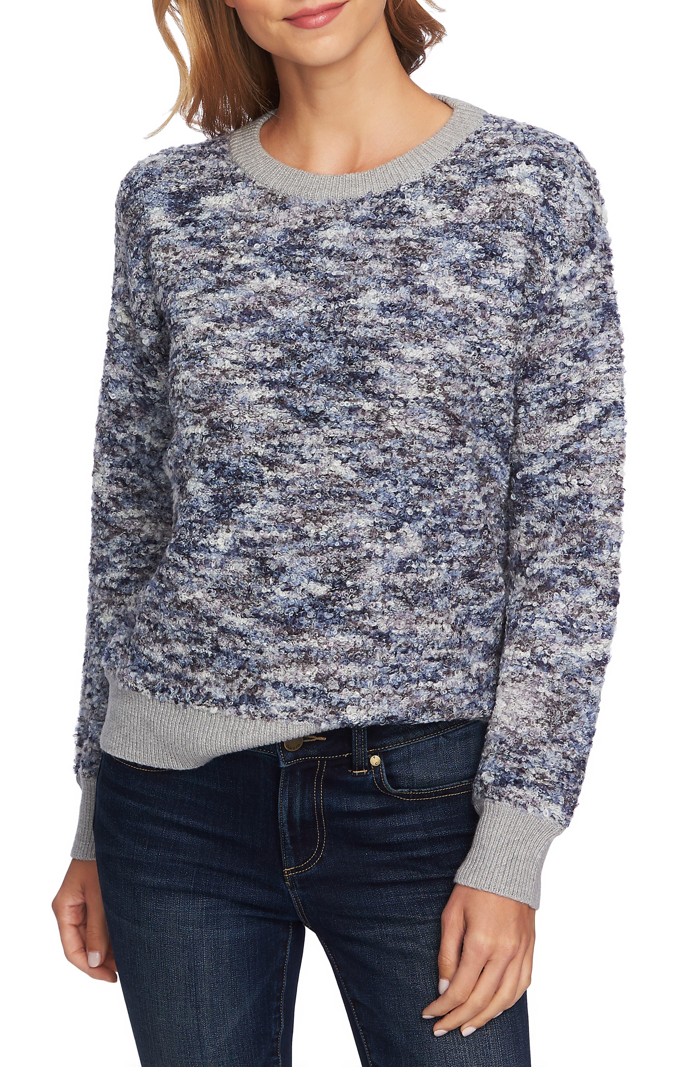 CECE,                             Bouclé Sweater,                             Main thumbnail 1, color,                             472