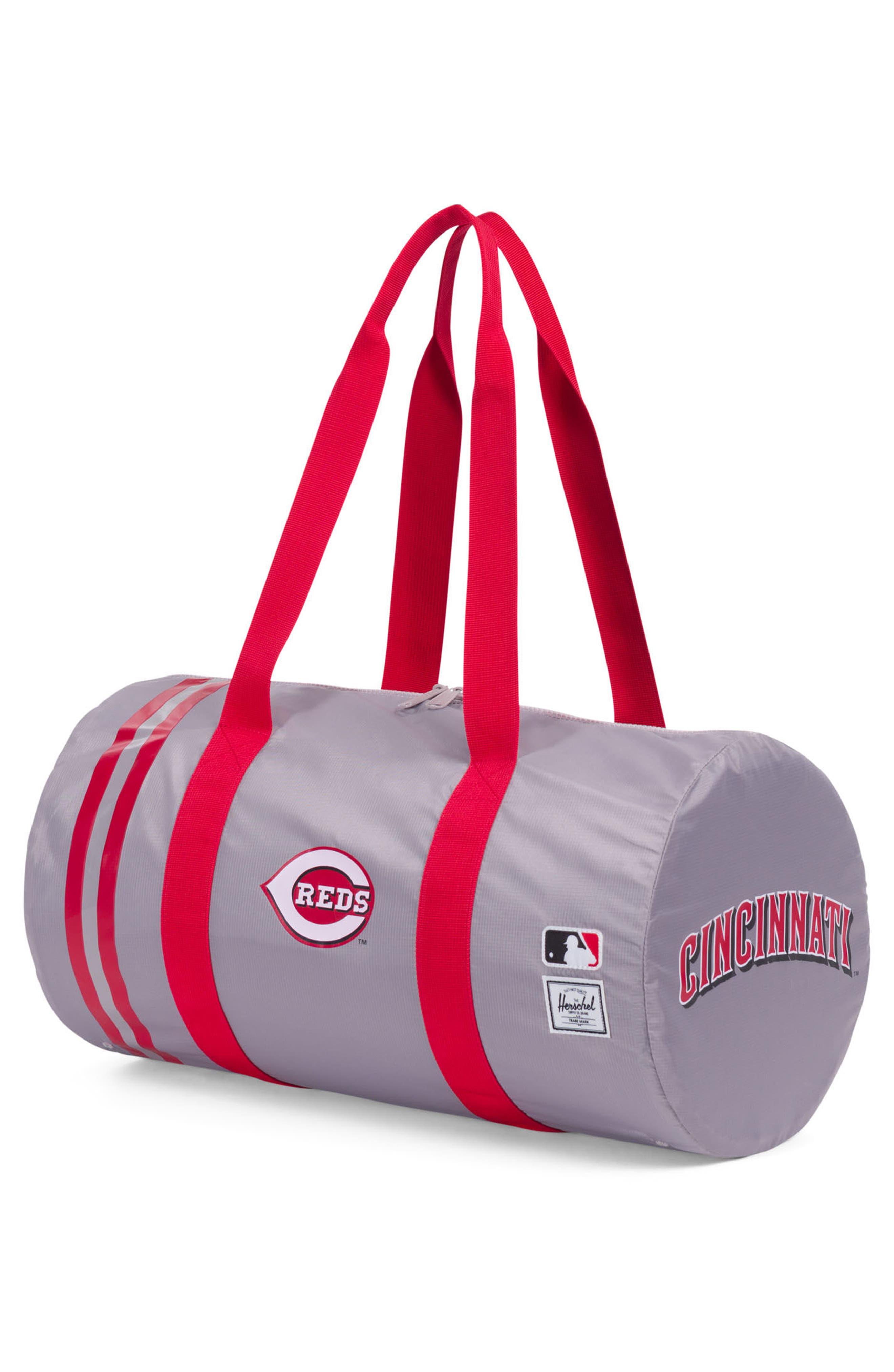 Packable - MLB National League Duffel Bag,                             Alternate thumbnail 2, color,                             CINCINNATI REDS