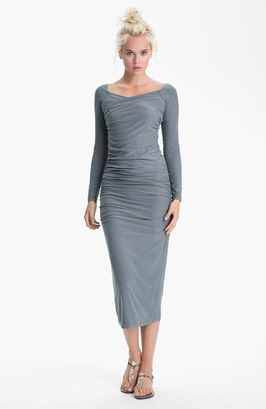 Ruched Midi Dress,                             Main thumbnail 1, color,                             029