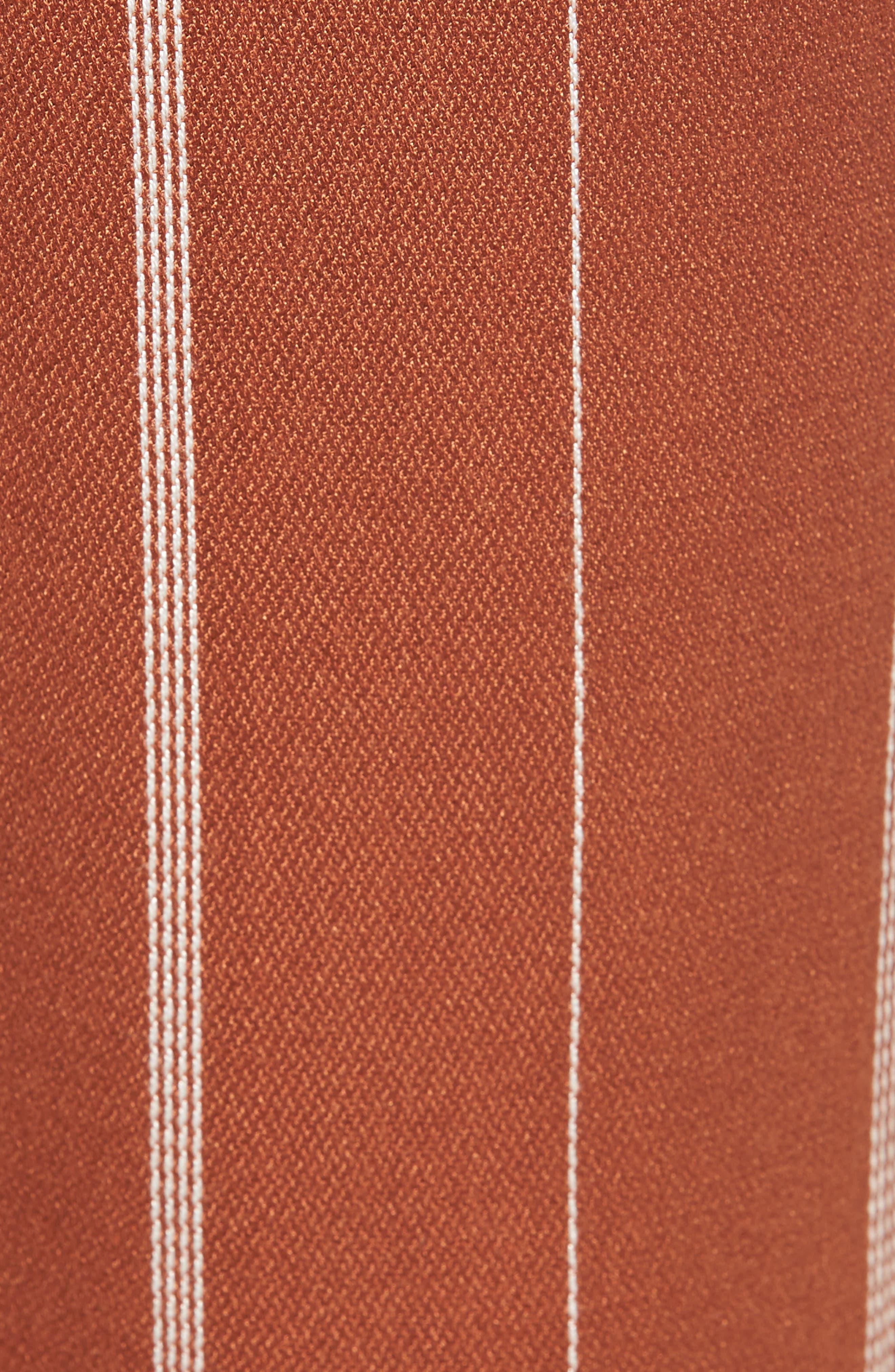 Paperbag Waist Pants,                             Alternate thumbnail 5, color,                             RUST CIDER/ CREAM STRIPES