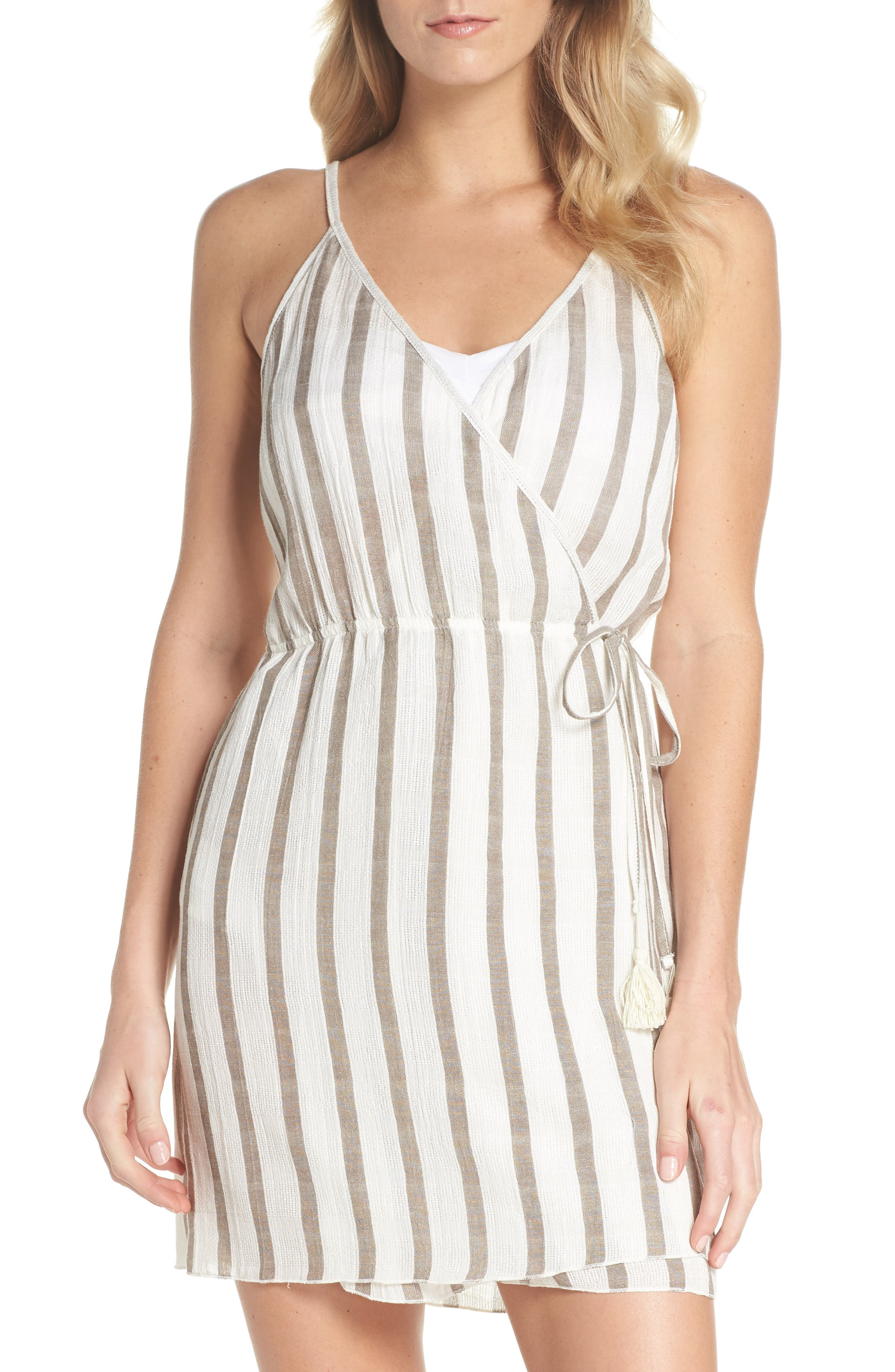 Becca Serengeti Cover-Up Wrap Dress, White