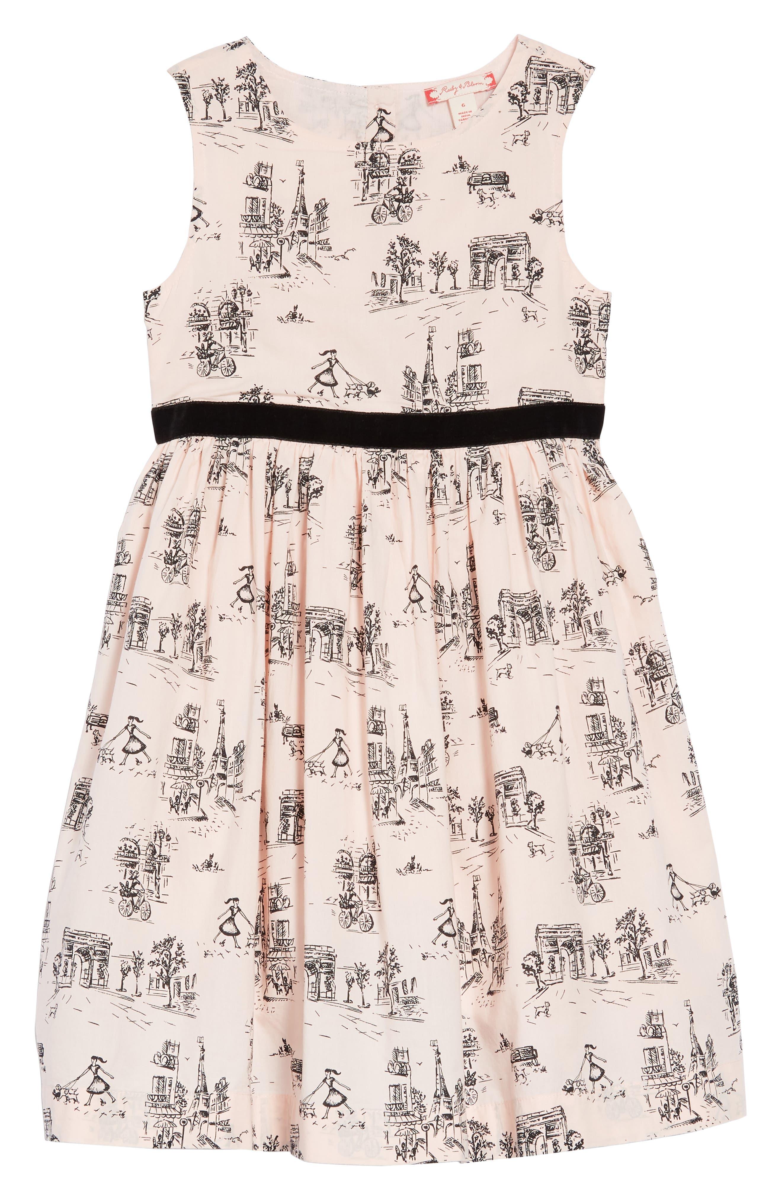 Print Dress,                         Main,                         color, PINK CHINTZ TOILE