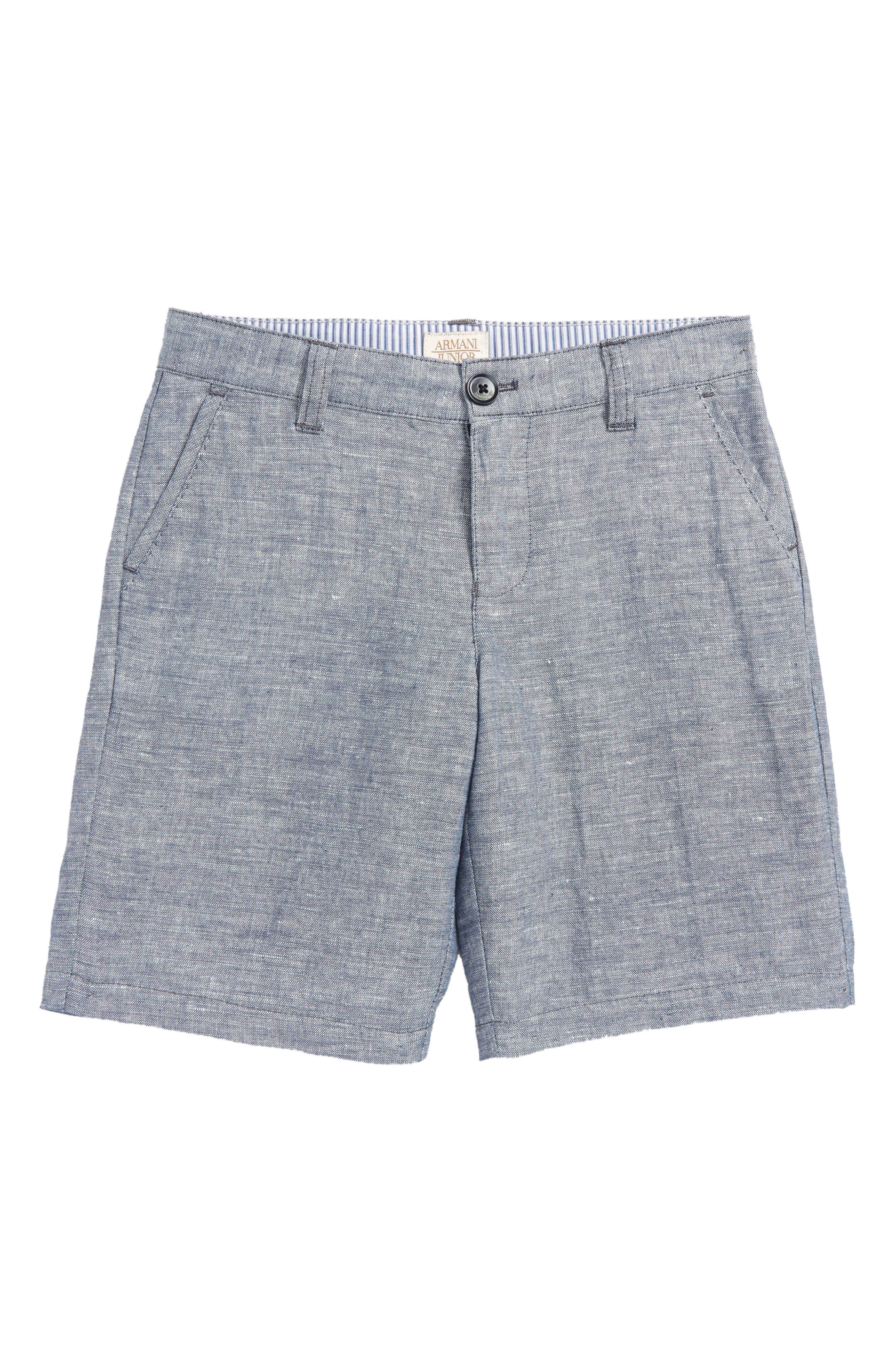 Chambray Shorts,                             Main thumbnail 1, color,                             424