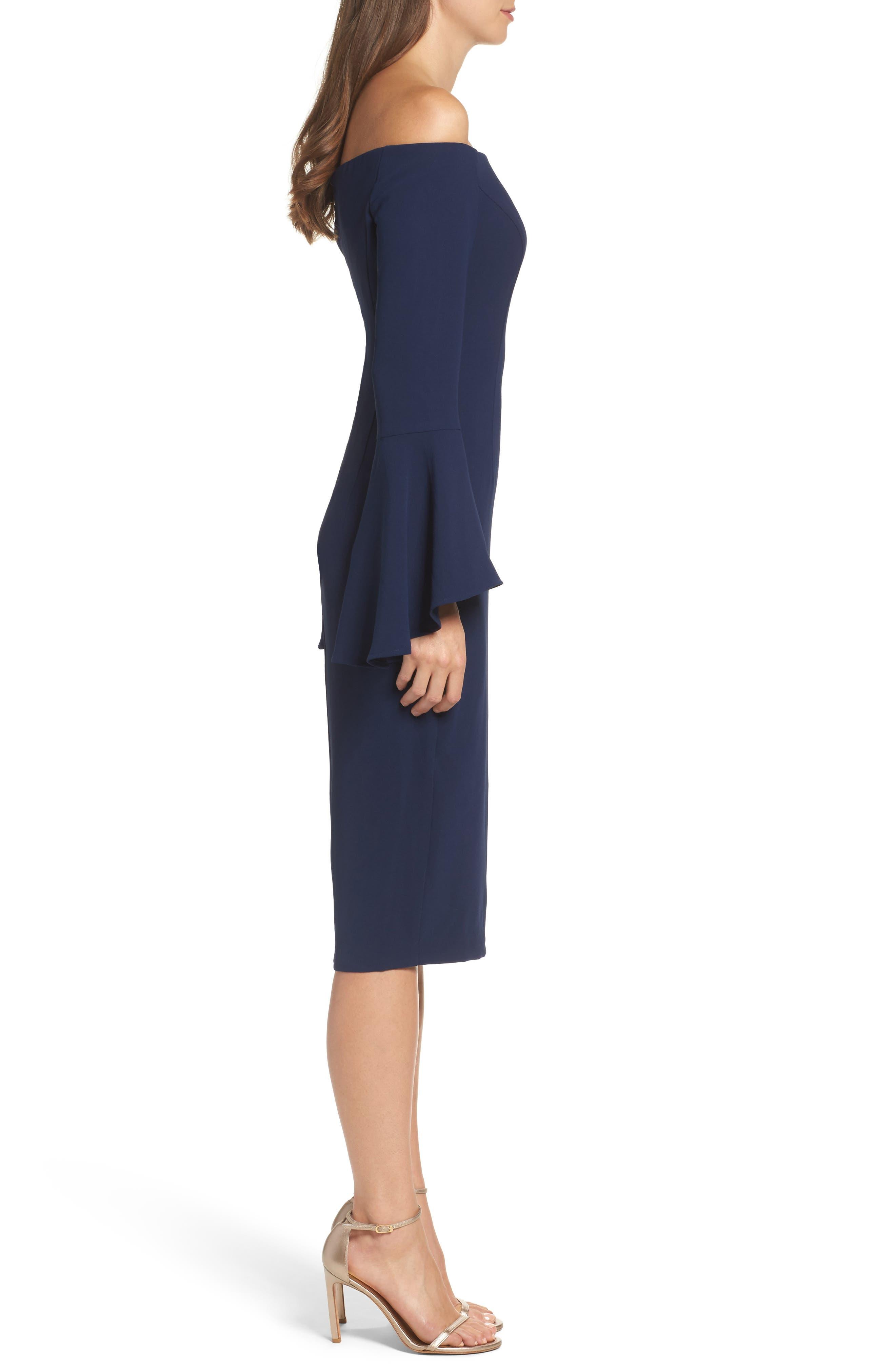 'Solange' Off the Shoulder Midi Dress,                             Alternate thumbnail 12, color,