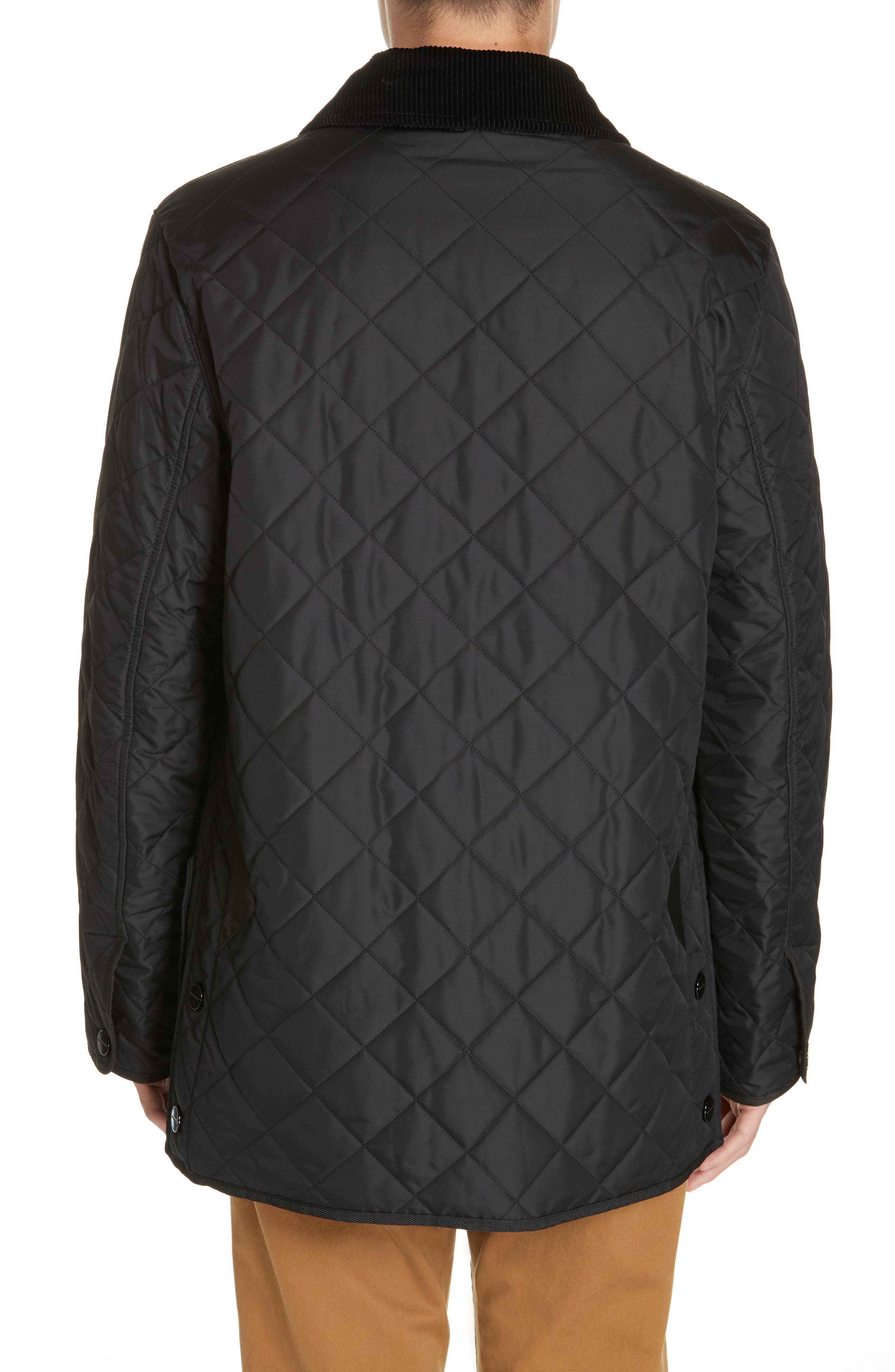 BURBERRY,                             Cotswold Quilted Jacket,                             Alternate thumbnail 2, color,                             BLACK