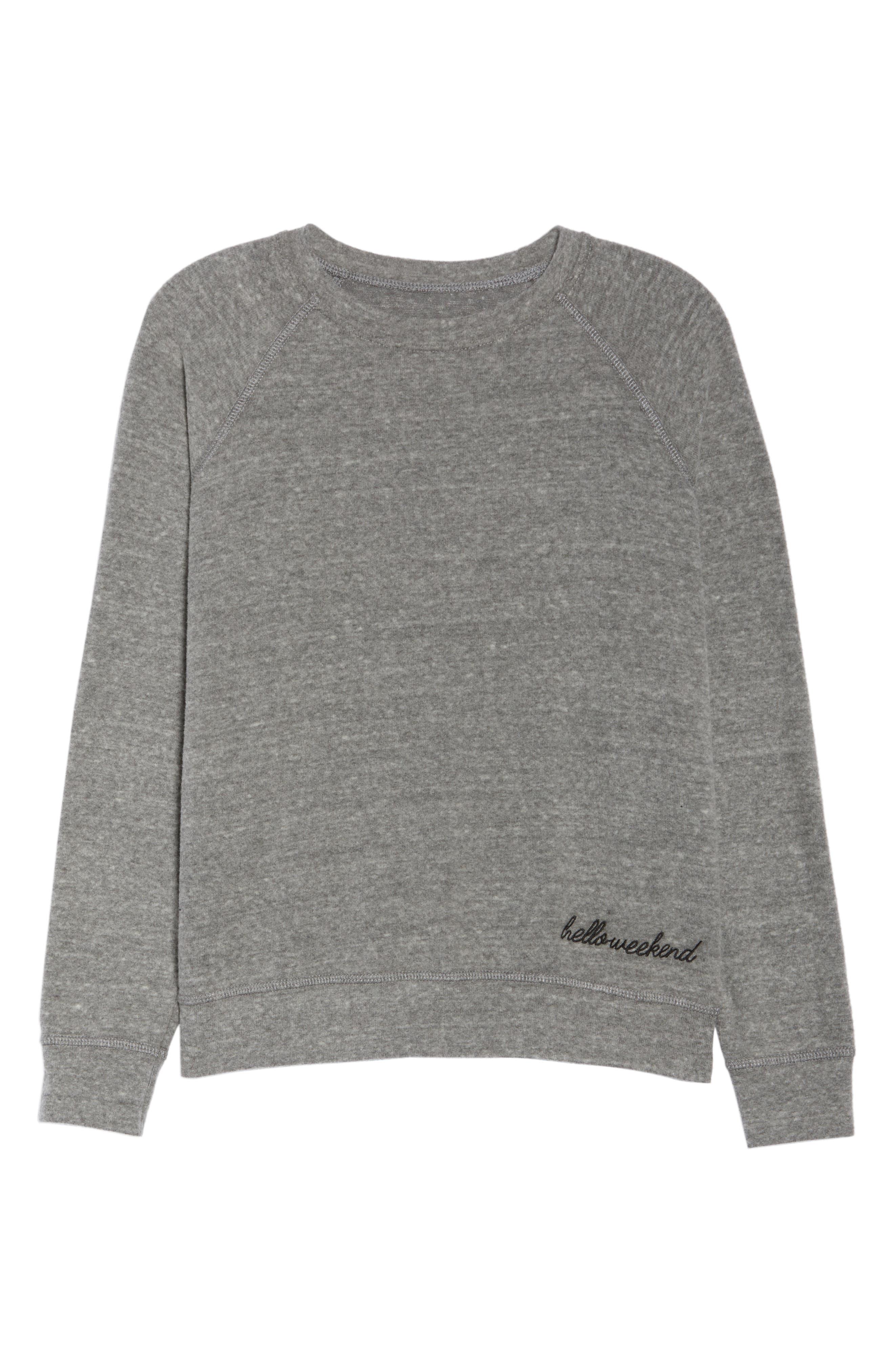 Roselynn Hello, Weekend Sweatshirt,                             Alternate thumbnail 7, color,                             020