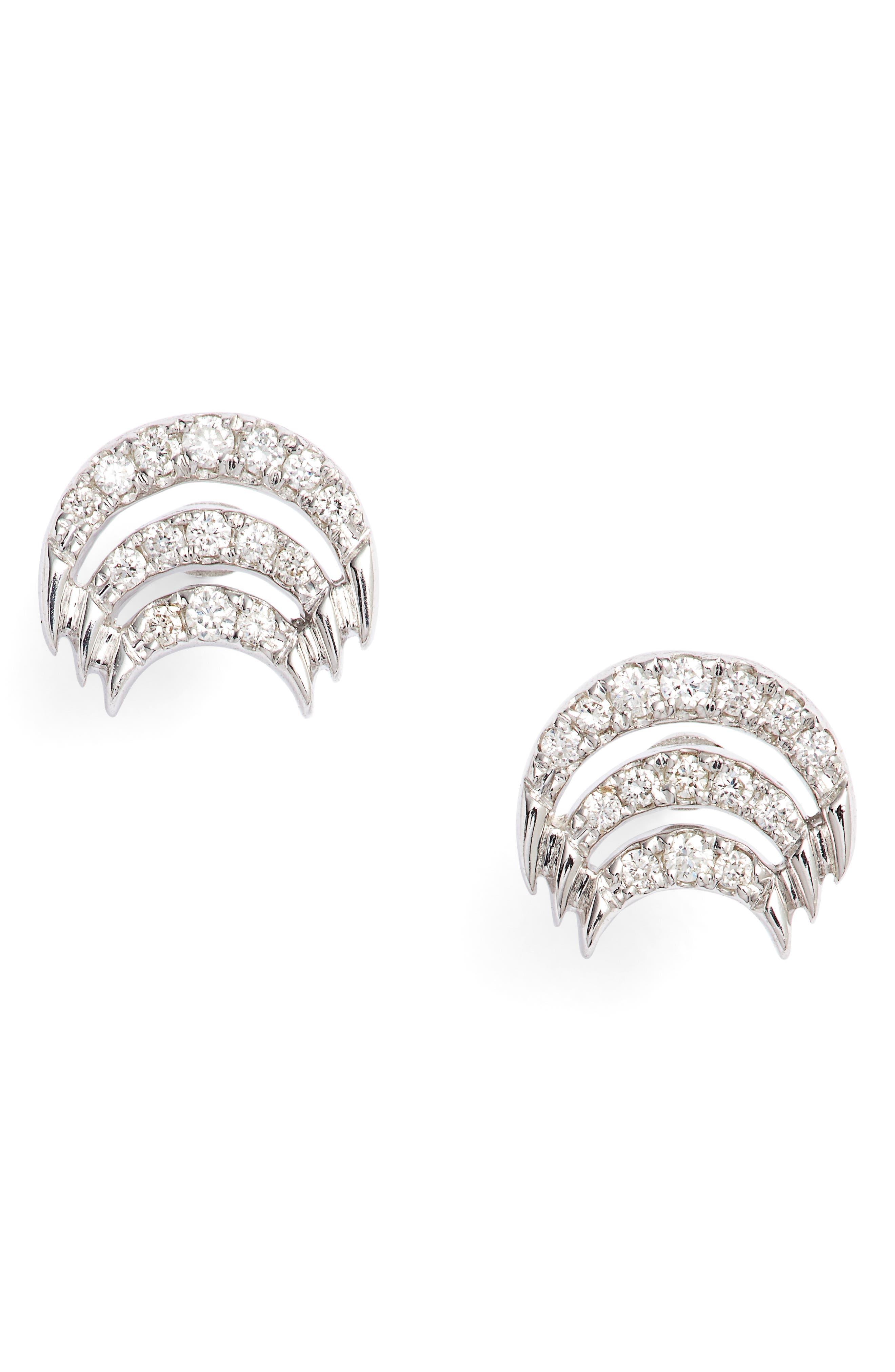 Isla Rio Diamond Stud Earrings,                             Main thumbnail 2, color,