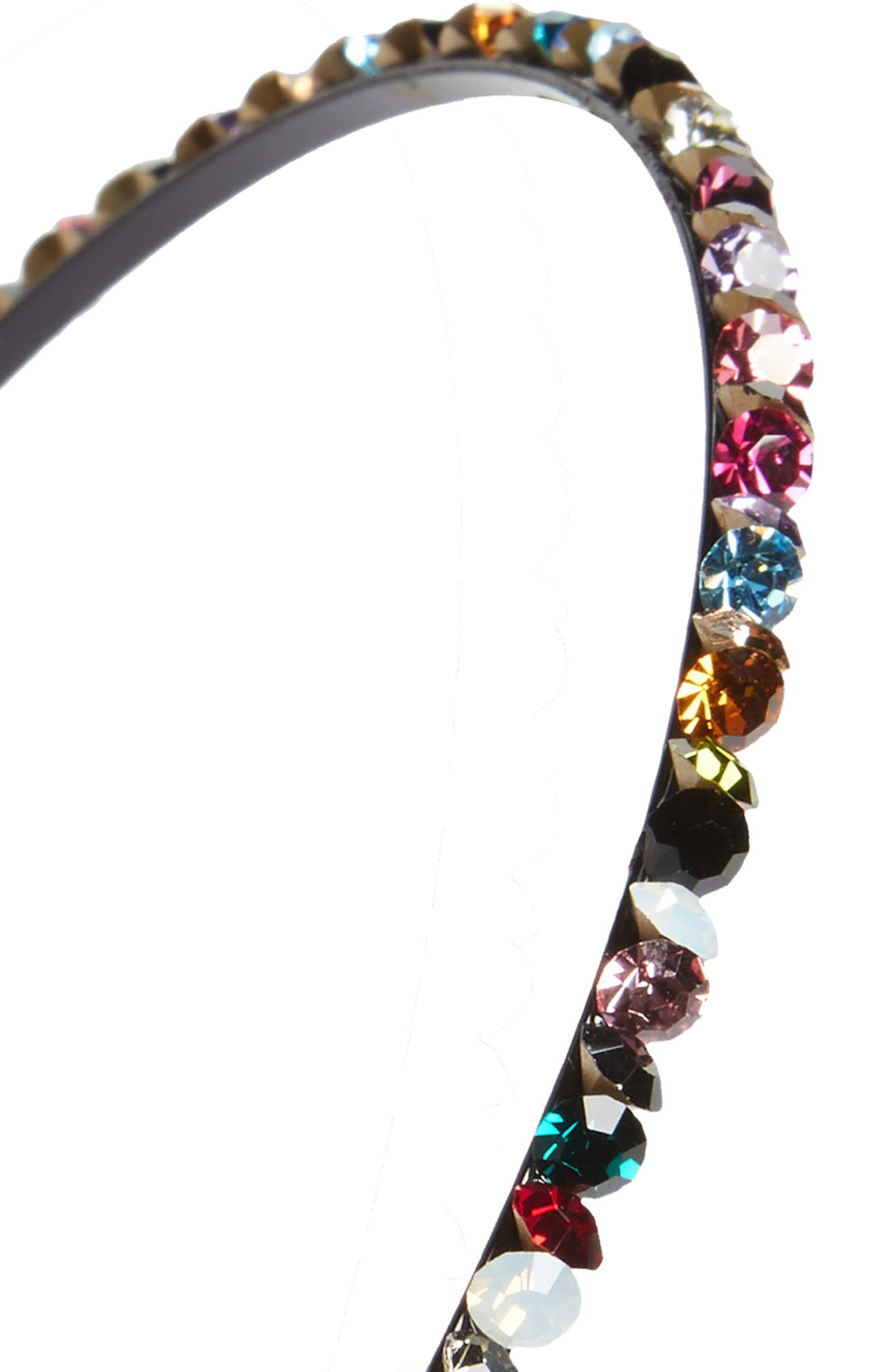 Sparkle Jem Skinny Headband,                             Alternate thumbnail 2, color,                             010