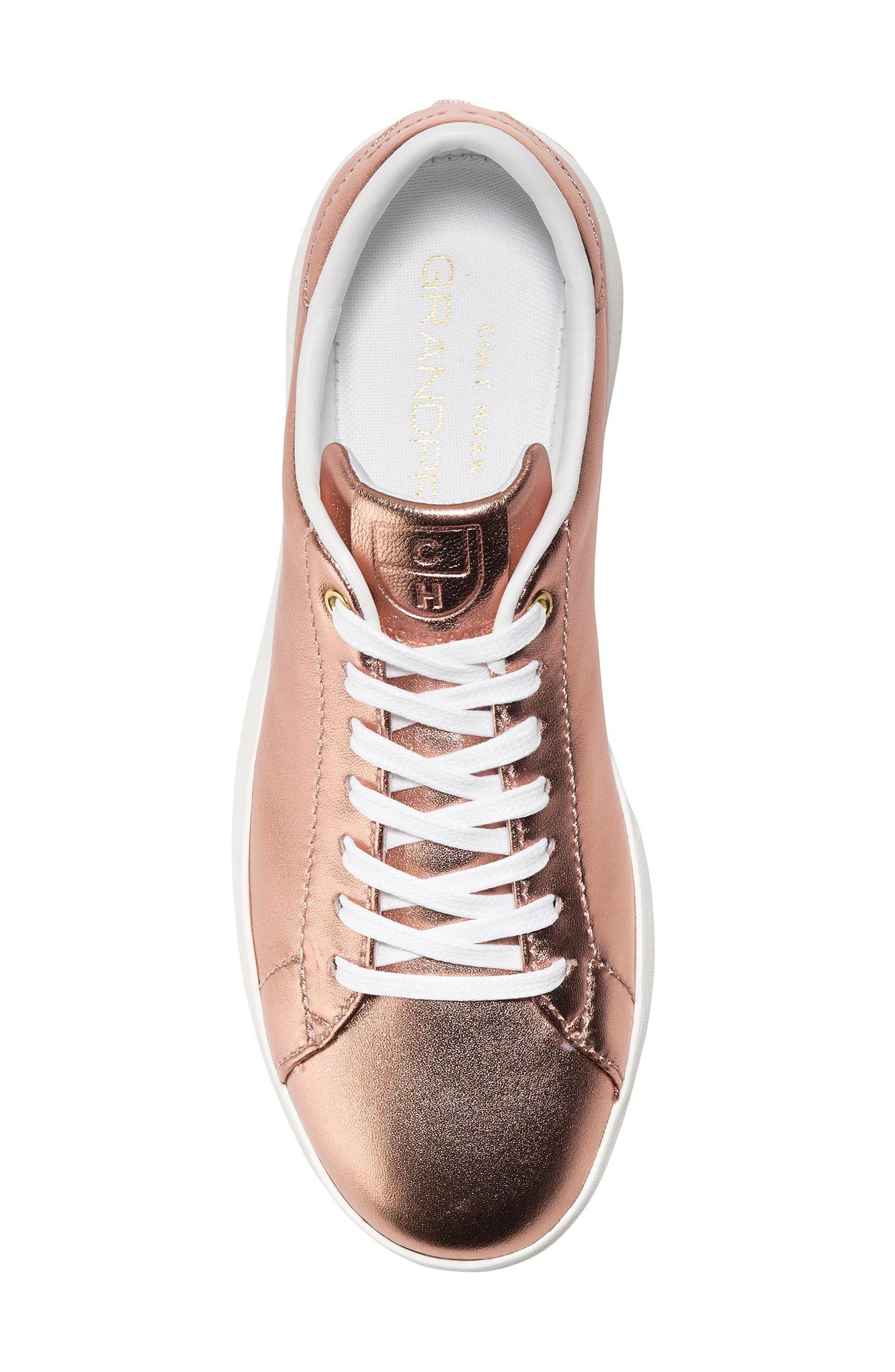 GrandPro Tennis Shoe,                             Alternate thumbnail 5, color,                             ROSE GOLD LEATHER
