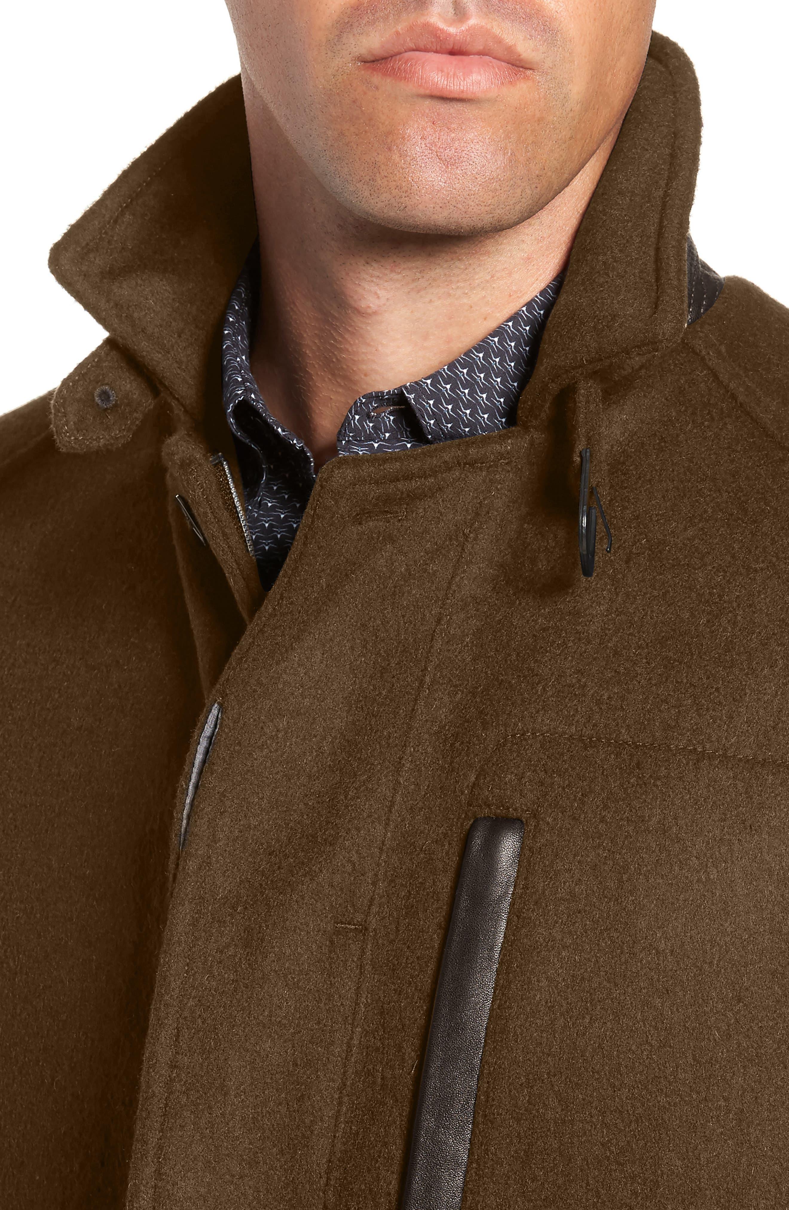 W.R.K,                             Kilo Slim Fit Wool Blend Coat,                             Alternate thumbnail 4, color,                             OLIVE