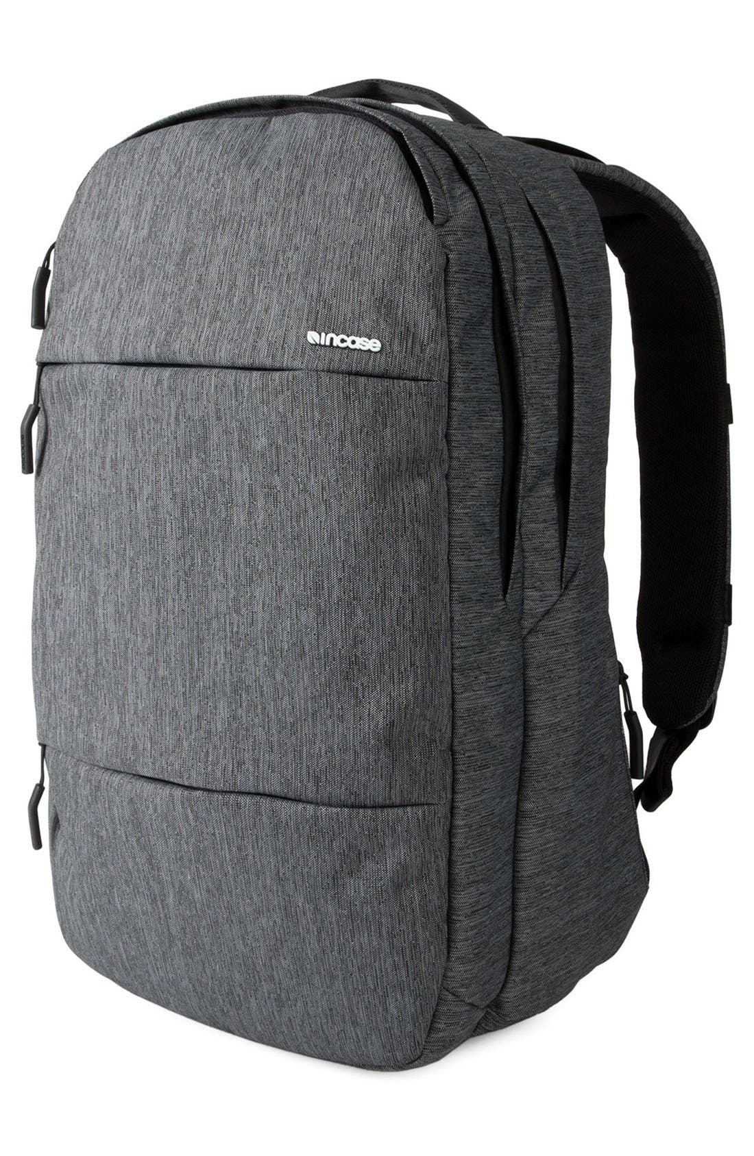 City Collection Backpack,                             Alternate thumbnail 5, color,                             HEATHER BLACK/ GUNMETAL GREY