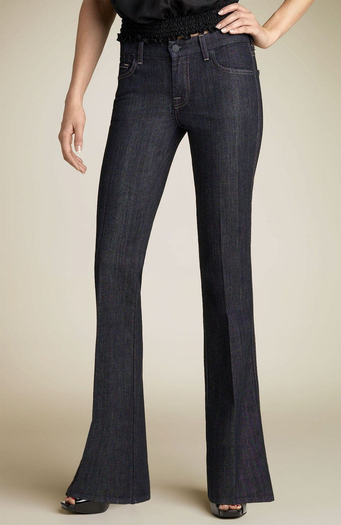 7 FOR ALL MANKIND<SUP>®</SUP>,                             'Swirl A-Pocket' Stretch Jeans,                             Alternate thumbnail 2, color,                             NYD