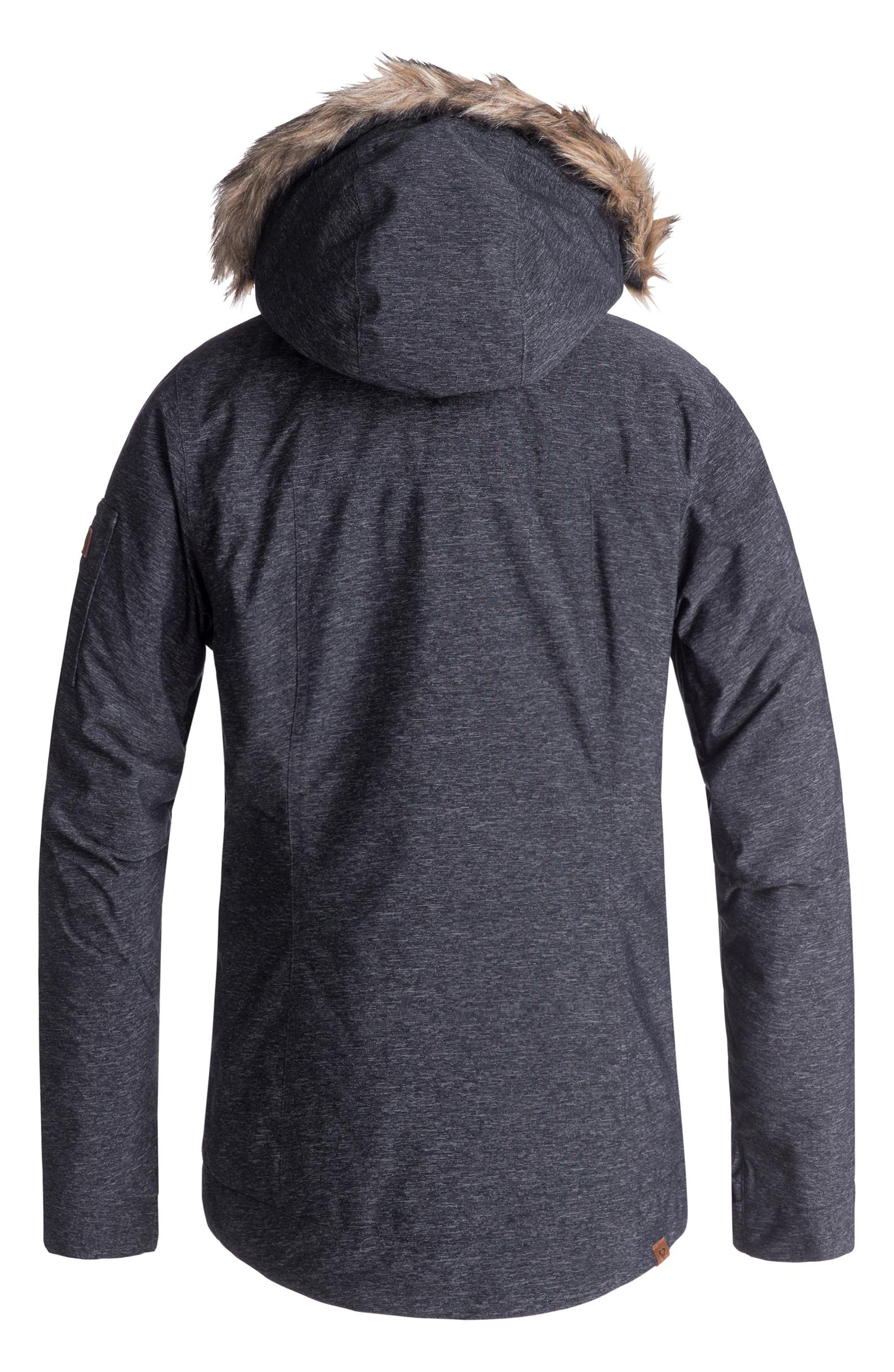 Meade Snow Jacket,                             Alternate thumbnail 3, color,                             TRUE BLACK