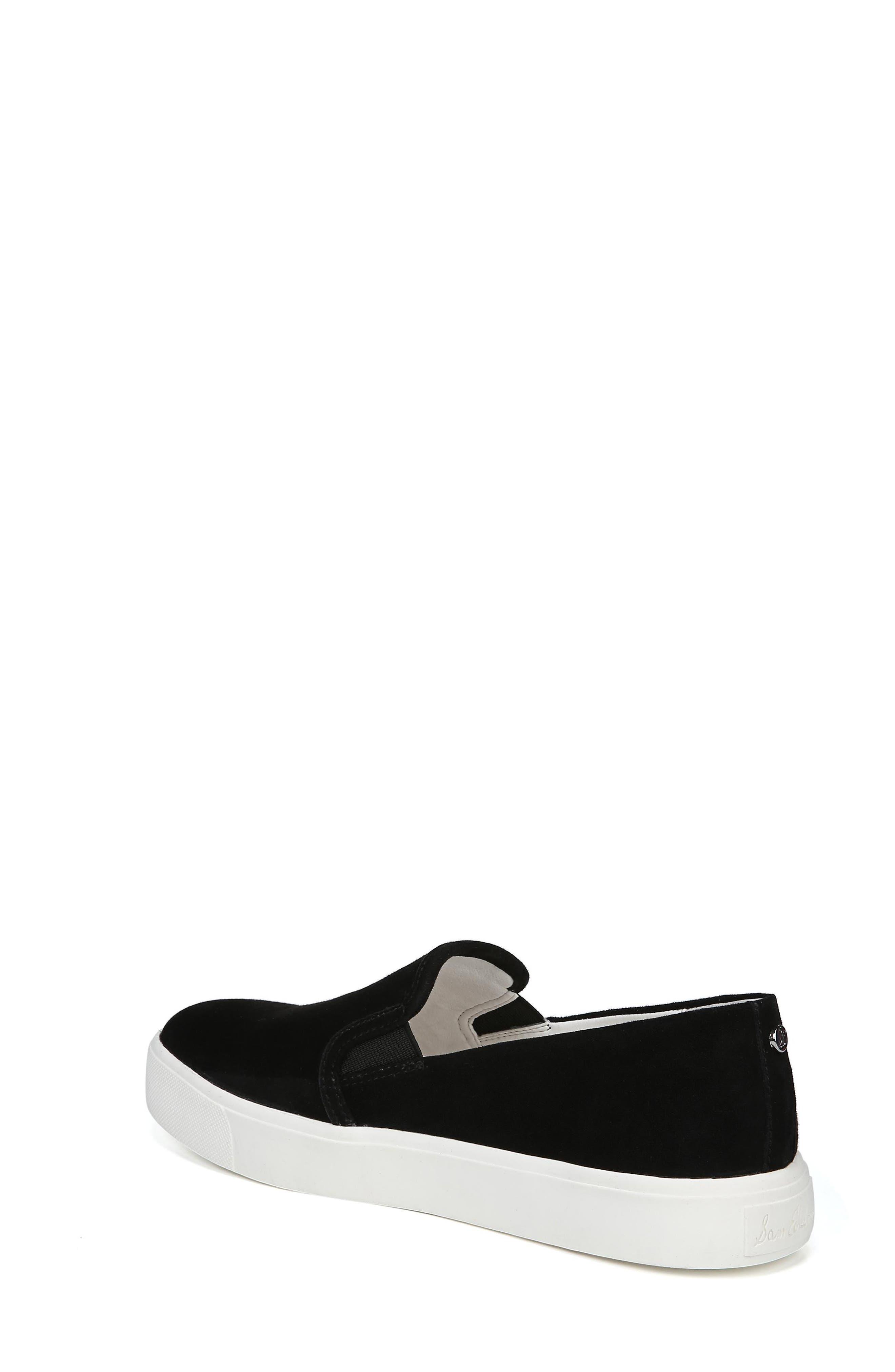 Elton Slip-On Sneaker,                             Alternate thumbnail 2, color,                             BLACK SUEDE LEATHER