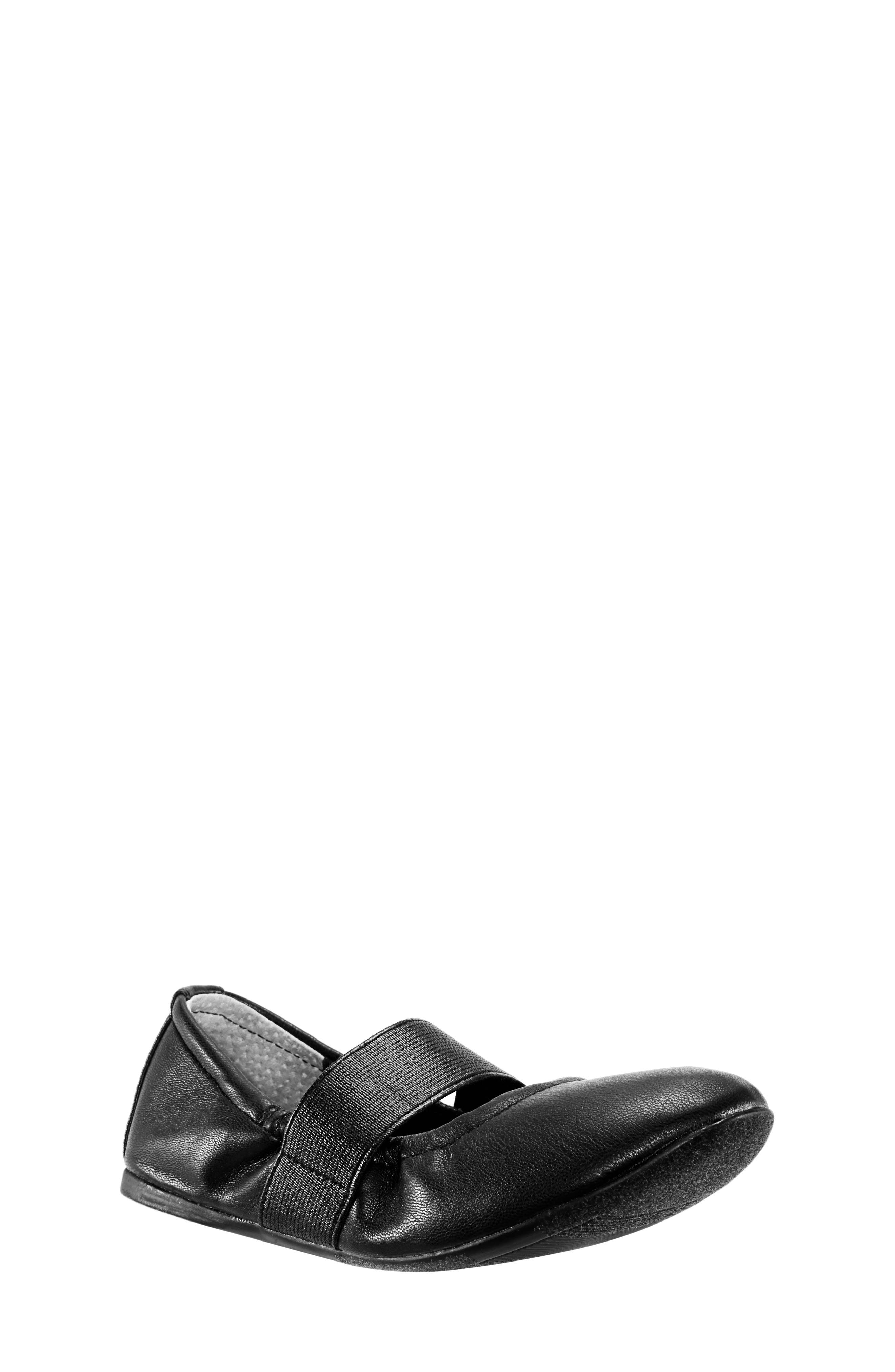 Aylee Ballet Flat,                         Main,                         color, BLACK SMOOTH