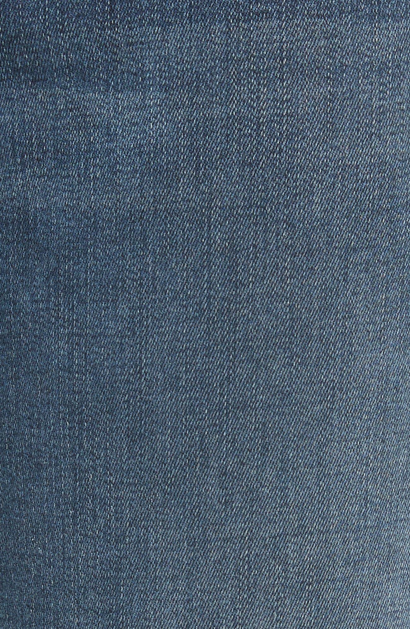 Le Crop Mini Boot Stagger Hem Jeans,                             Alternate thumbnail 5, color,                             420