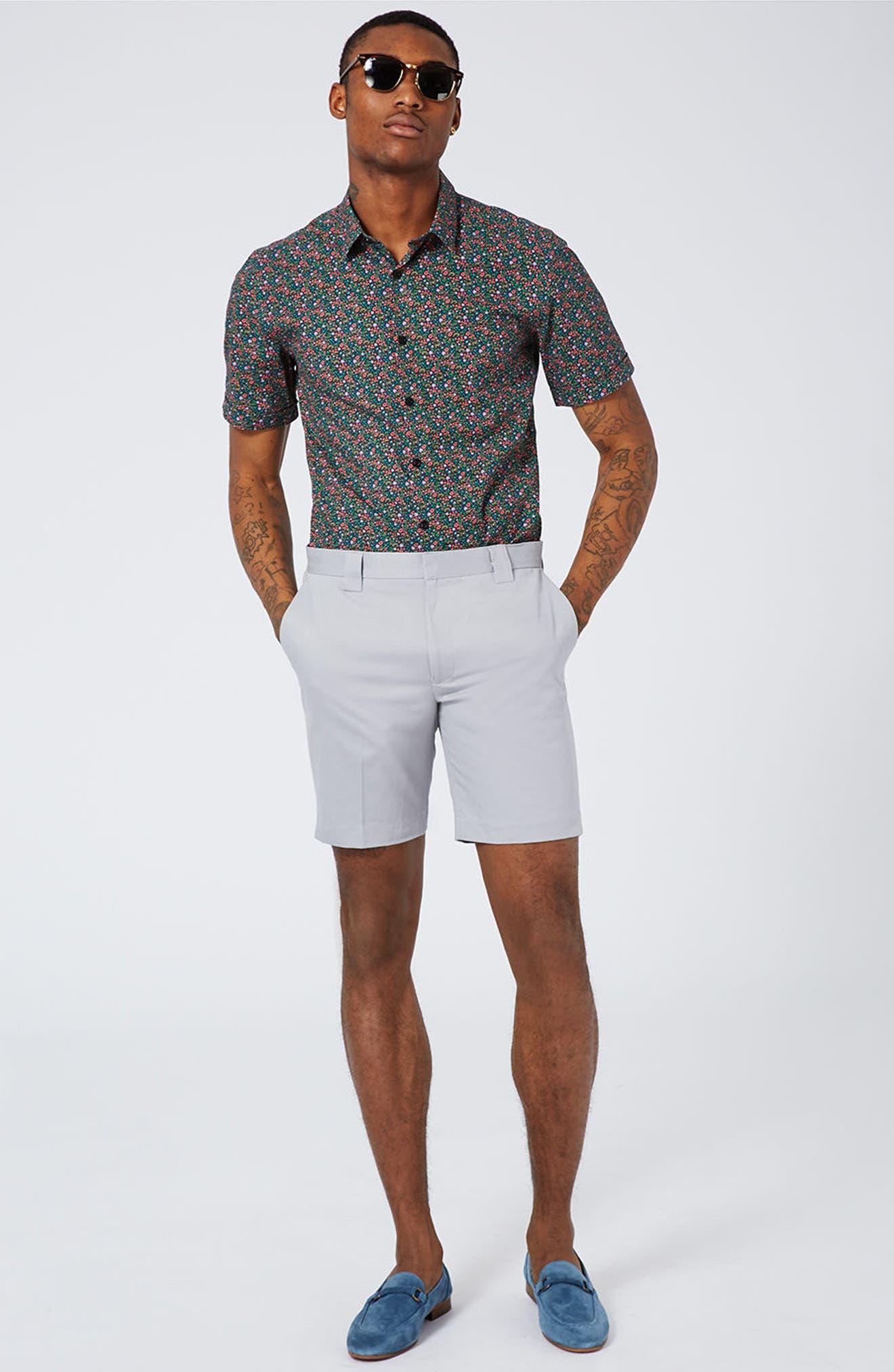 Twill Trouser Shorts,                             Alternate thumbnail 5, color,                             020