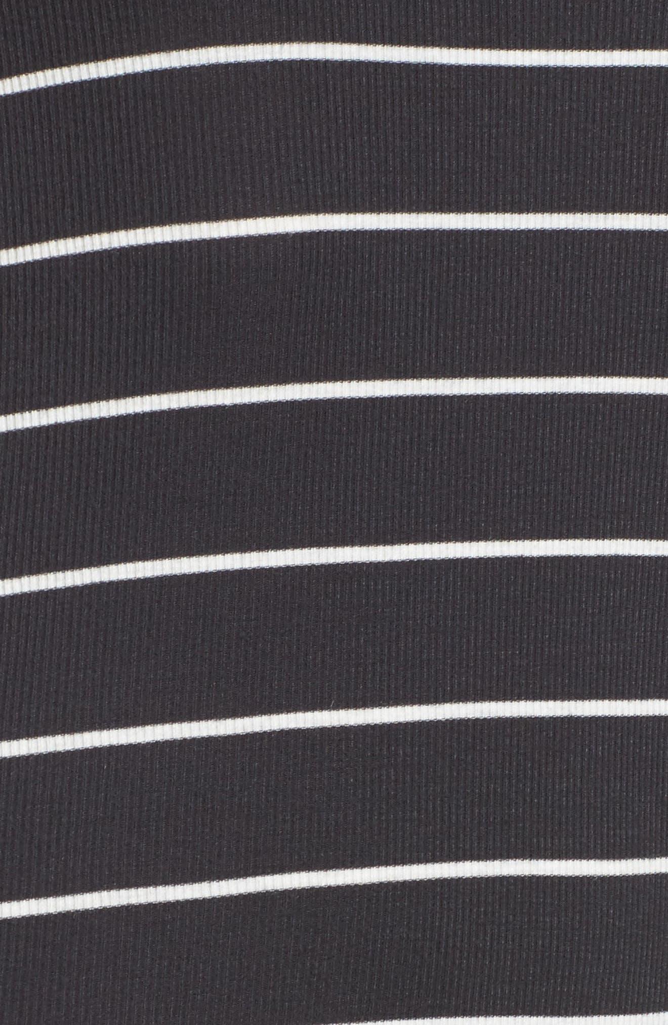 Rockin Down Stripe T-Shirt Dress,                             Alternate thumbnail 5, color,                             015
