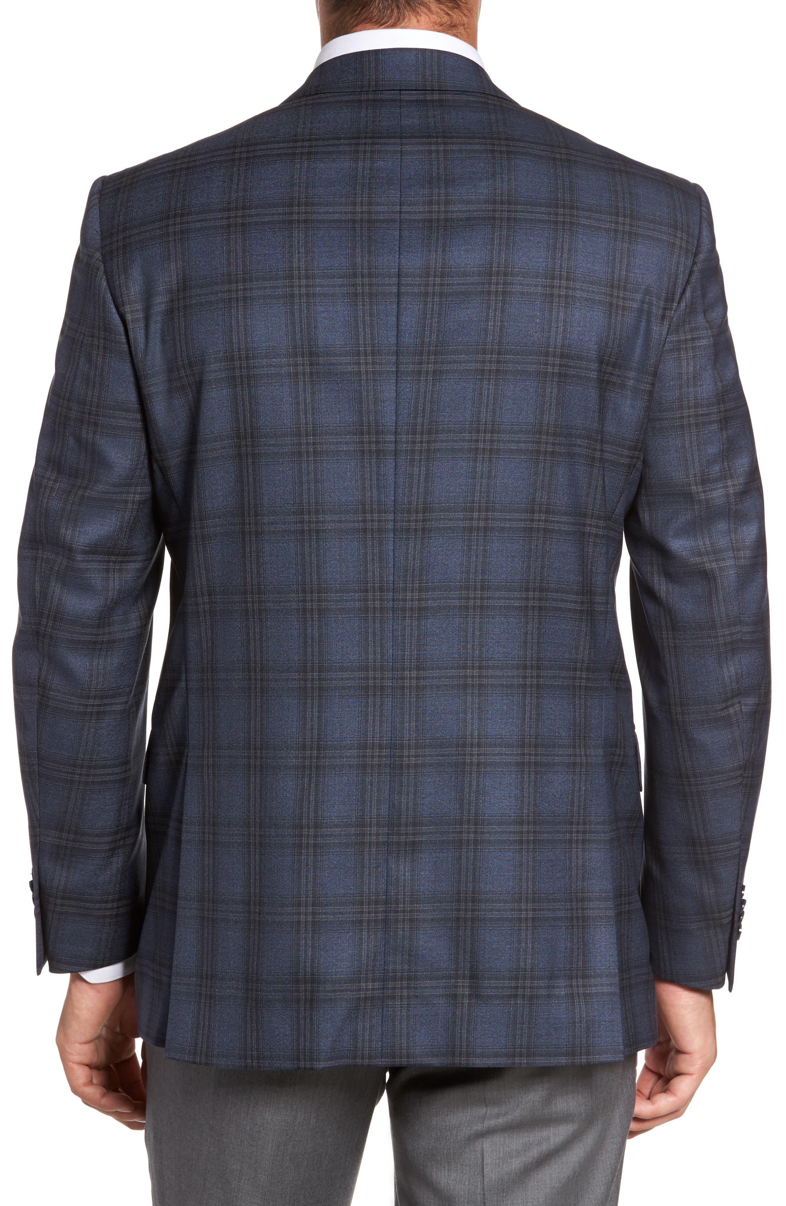 Flynn Classic Fit Plaid Wool Sport Coat,                             Alternate thumbnail 2, color,                             420