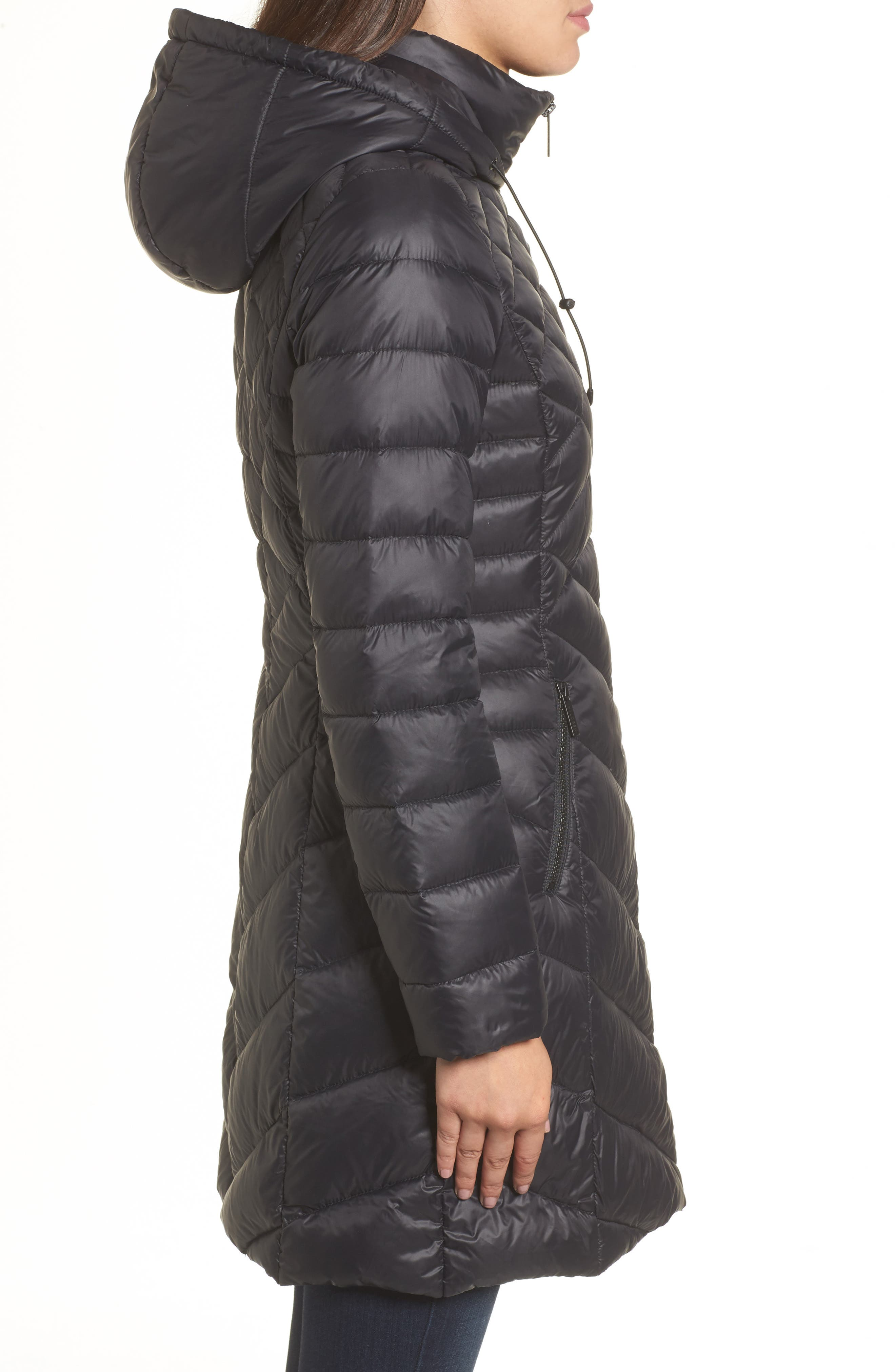 Hooded Down Puffer Jacket,                             Alternate thumbnail 3, color,                             001