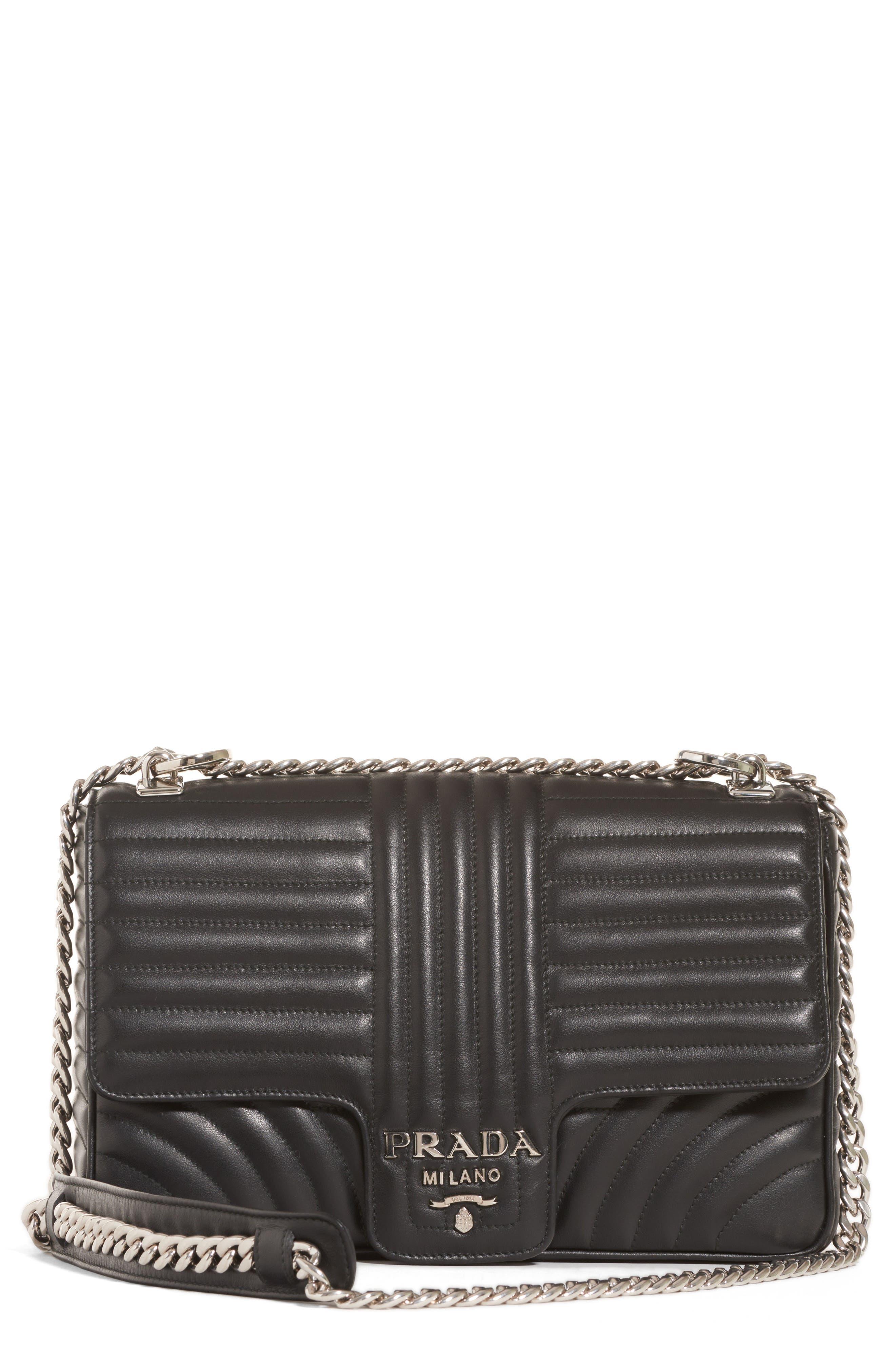 Large Quilted Leather Shoulder Bag,                         Main,                         color, NERO
