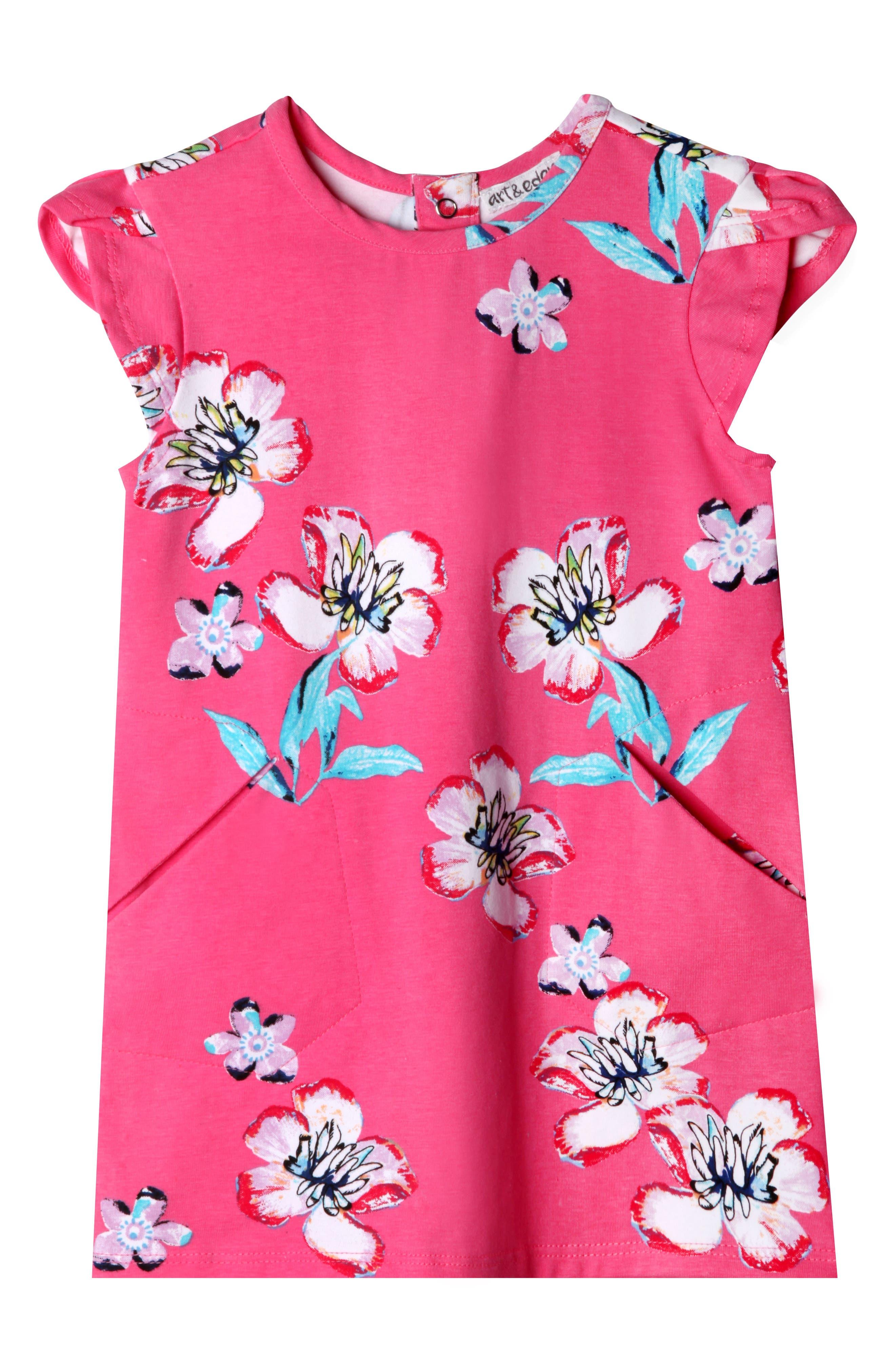Ivy Plumeria Dress,                             Main thumbnail 1, color,                             PINK PLUMERIA