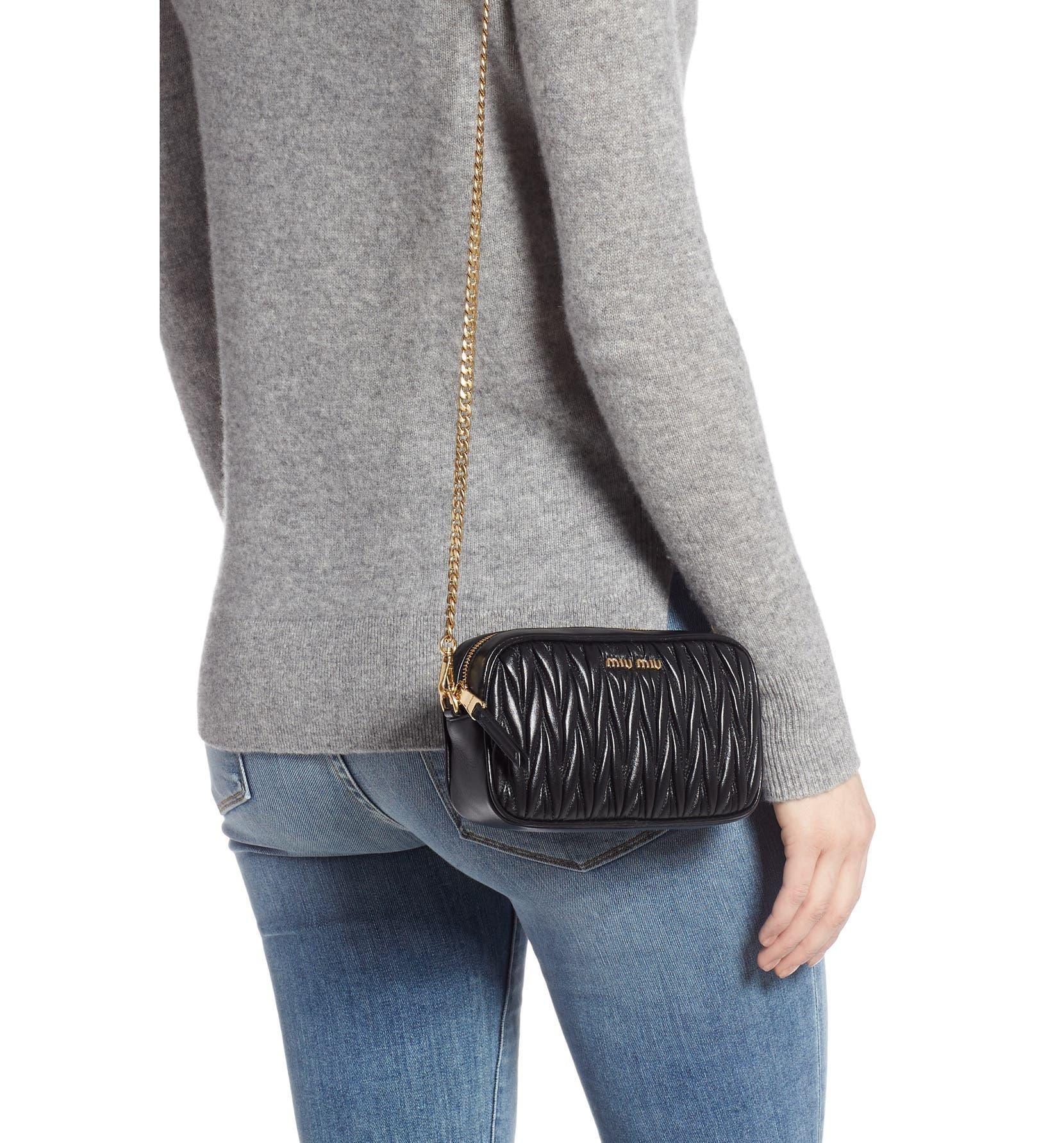73501e10720a Miu Miu Rider Matelassé Leather Belt Bag | Nordstrom