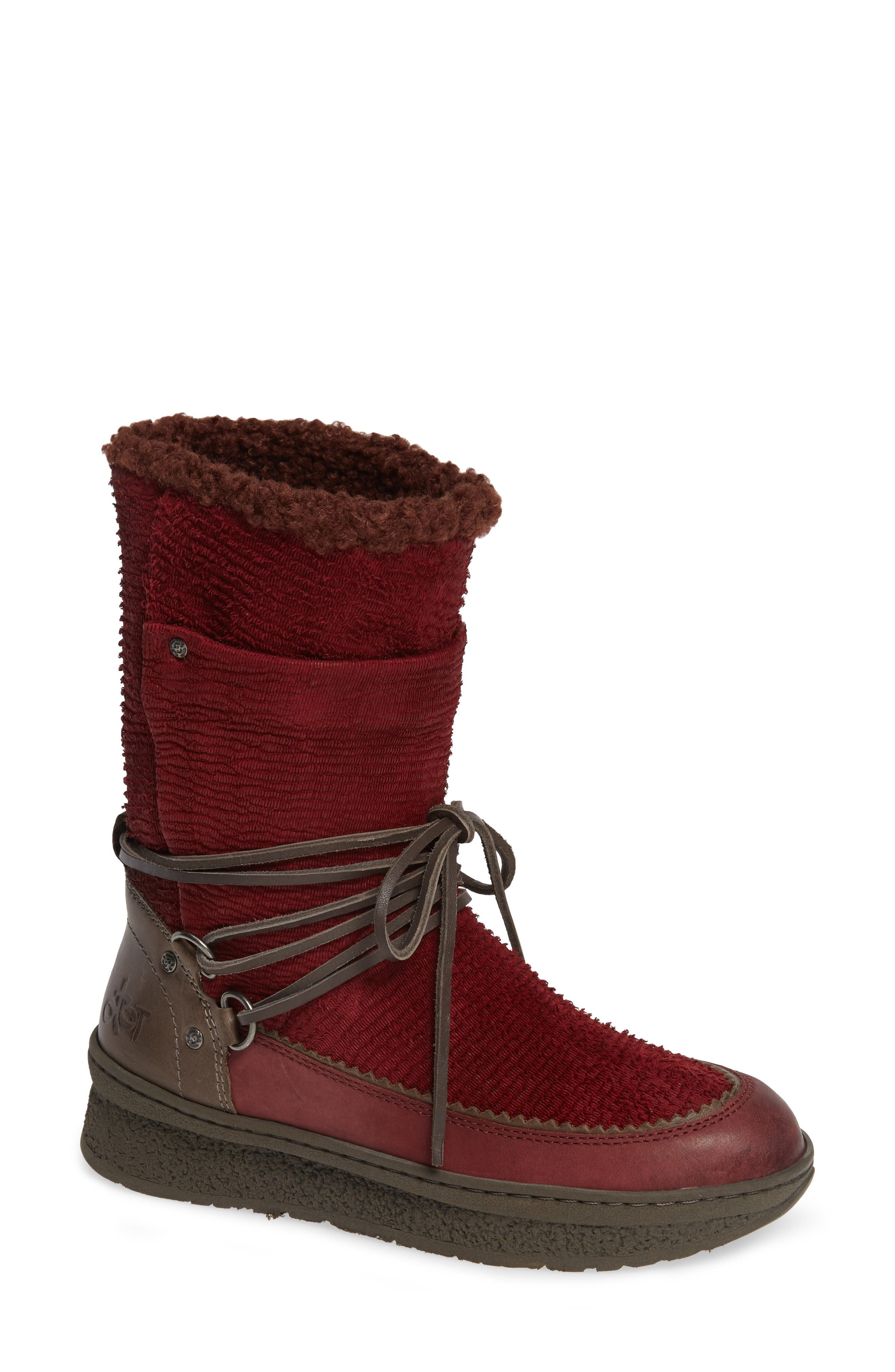 Otbt Slope Bootie- Red