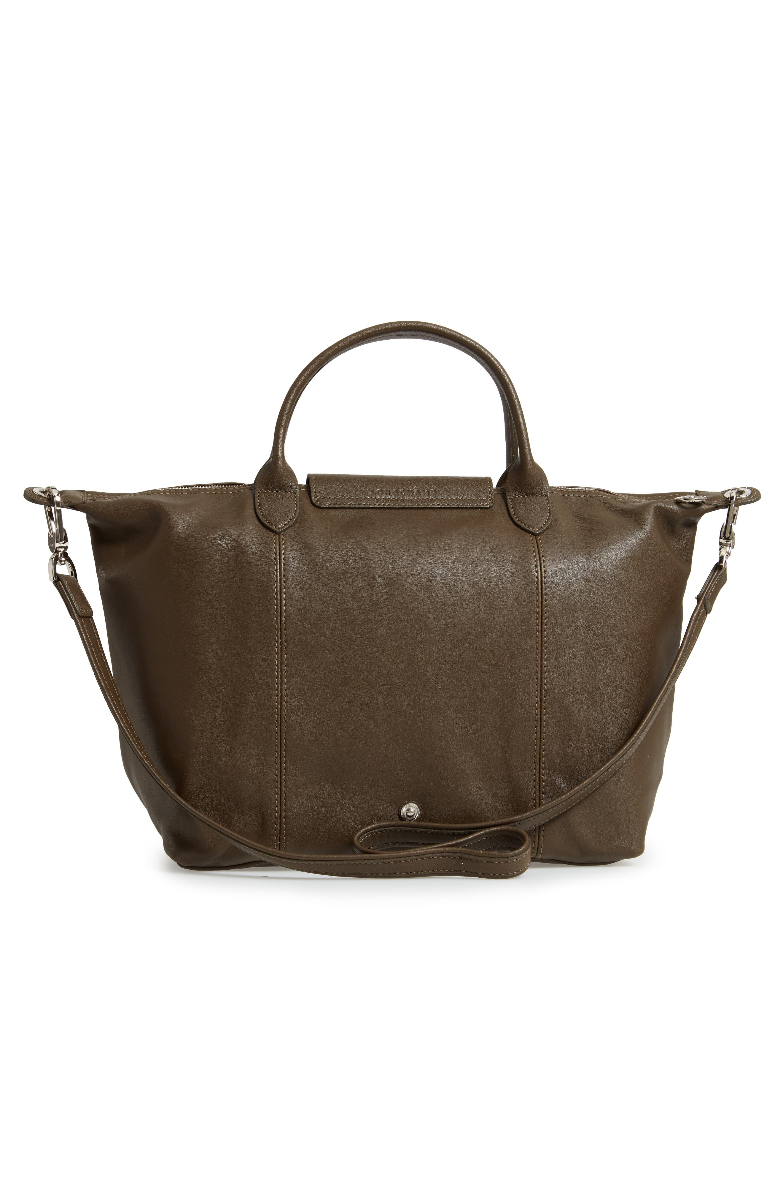 Medium 'Le Pliage Cuir' Leather Top Handle Tote,                             Alternate thumbnail 3, color,                             301