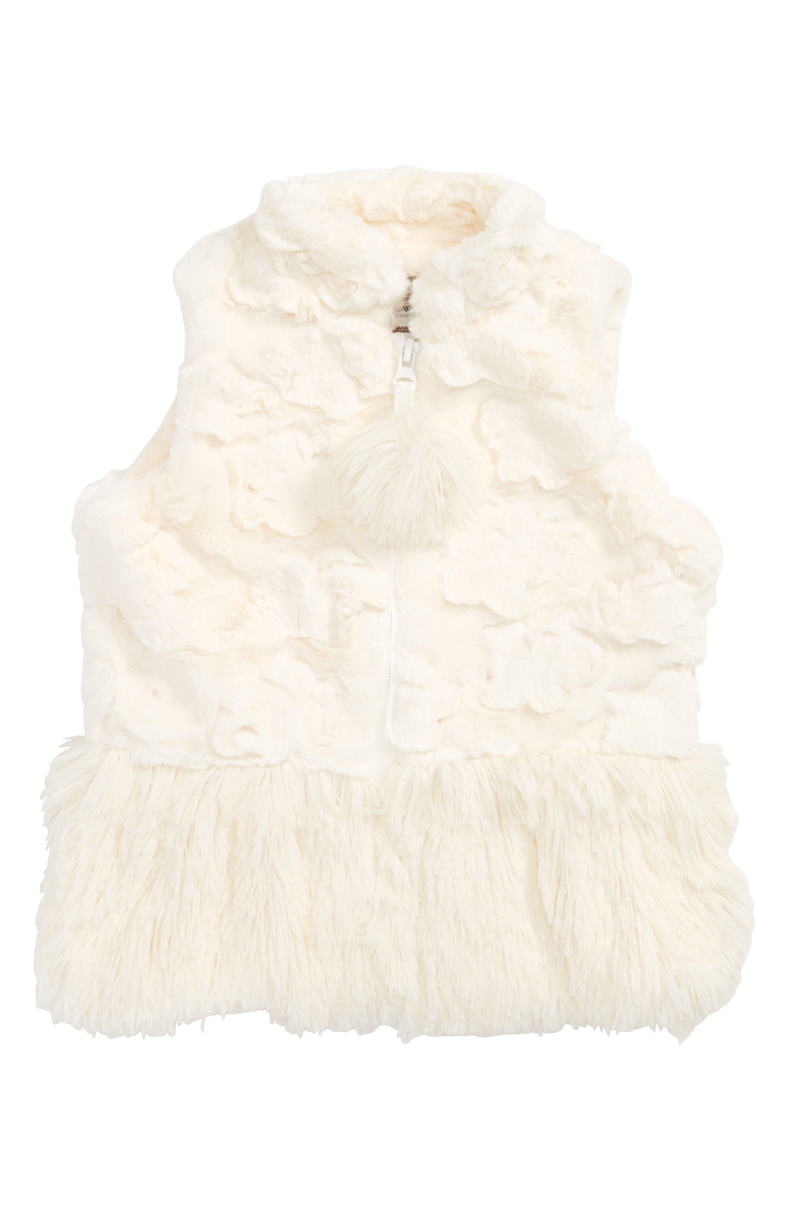Faux Fur Peplum Vest,                             Main thumbnail 1, color,                             901