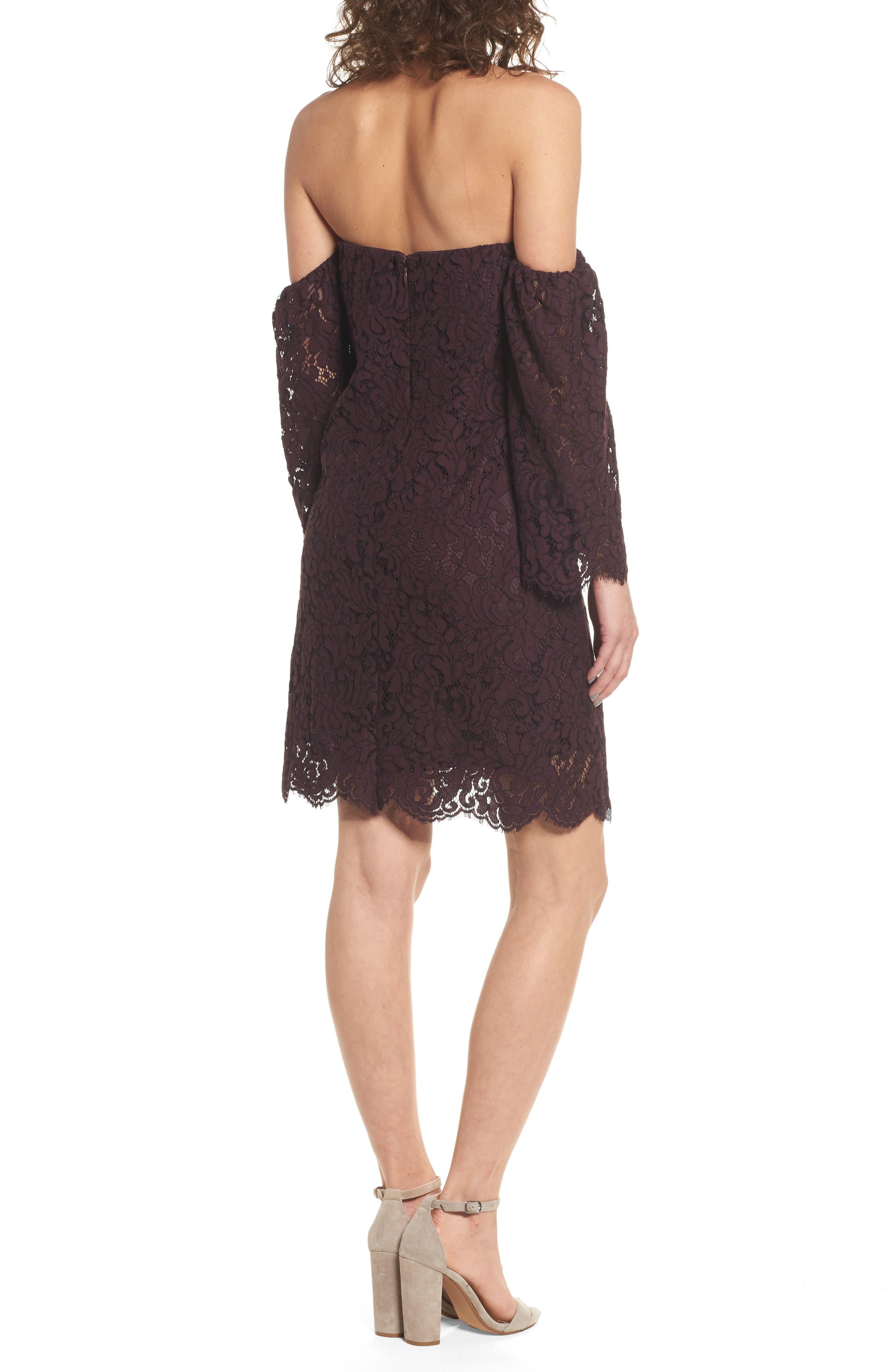 Adalira Off the Shoulder Lace Dress,                             Alternate thumbnail 2, color,                             930