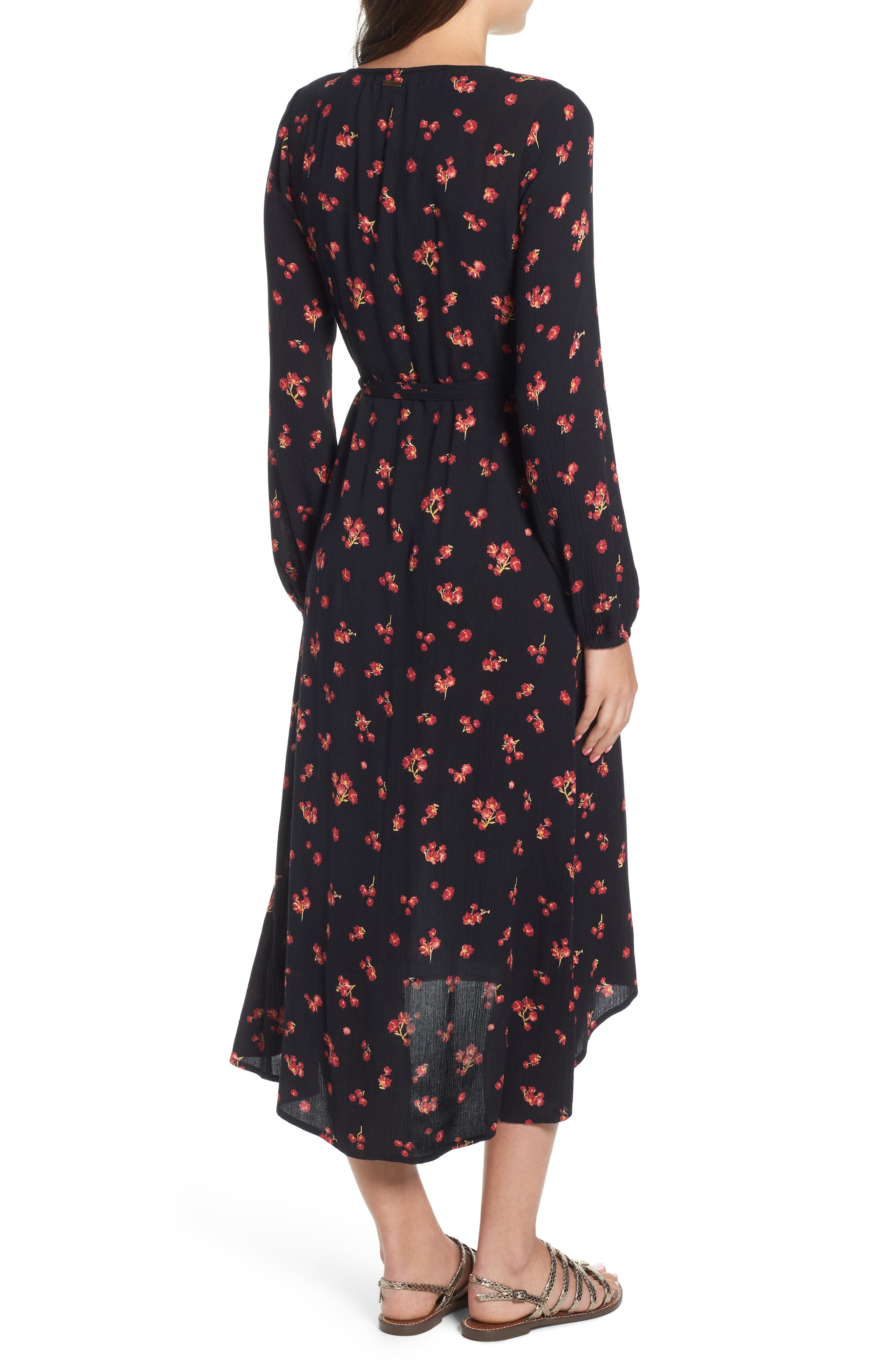 Forever Wild Floral Print Wrap Dress,                             Alternate thumbnail 2, color,                             001