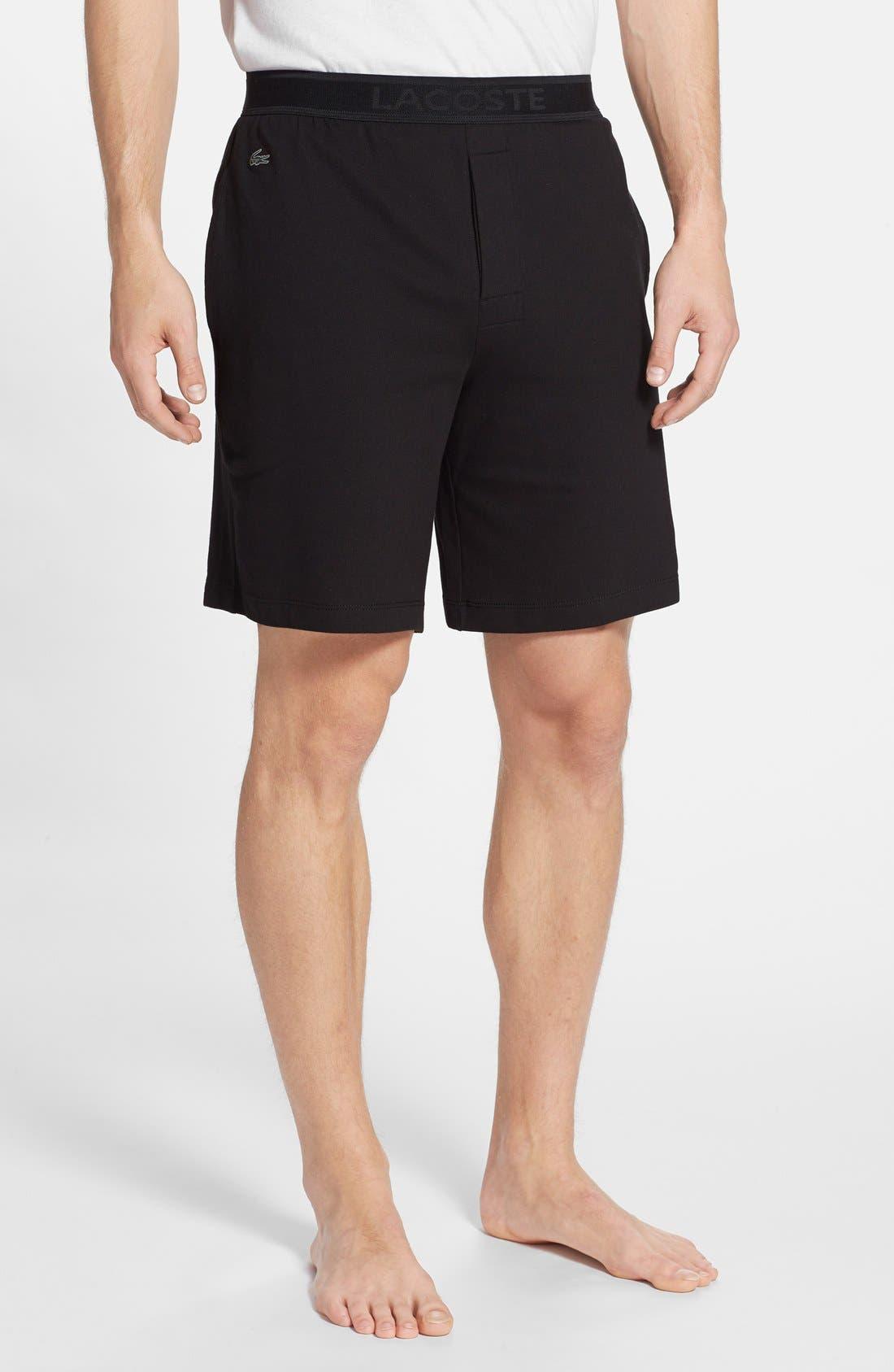 Piqué Lounge Shorts,                             Main thumbnail 1, color,                             001