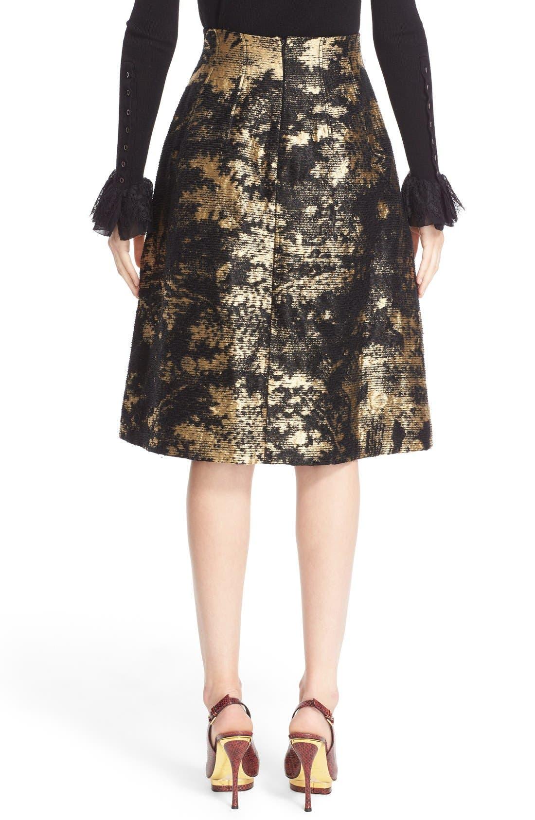 Peacock Jacquard Skirt,                             Alternate thumbnail 7, color,                             710