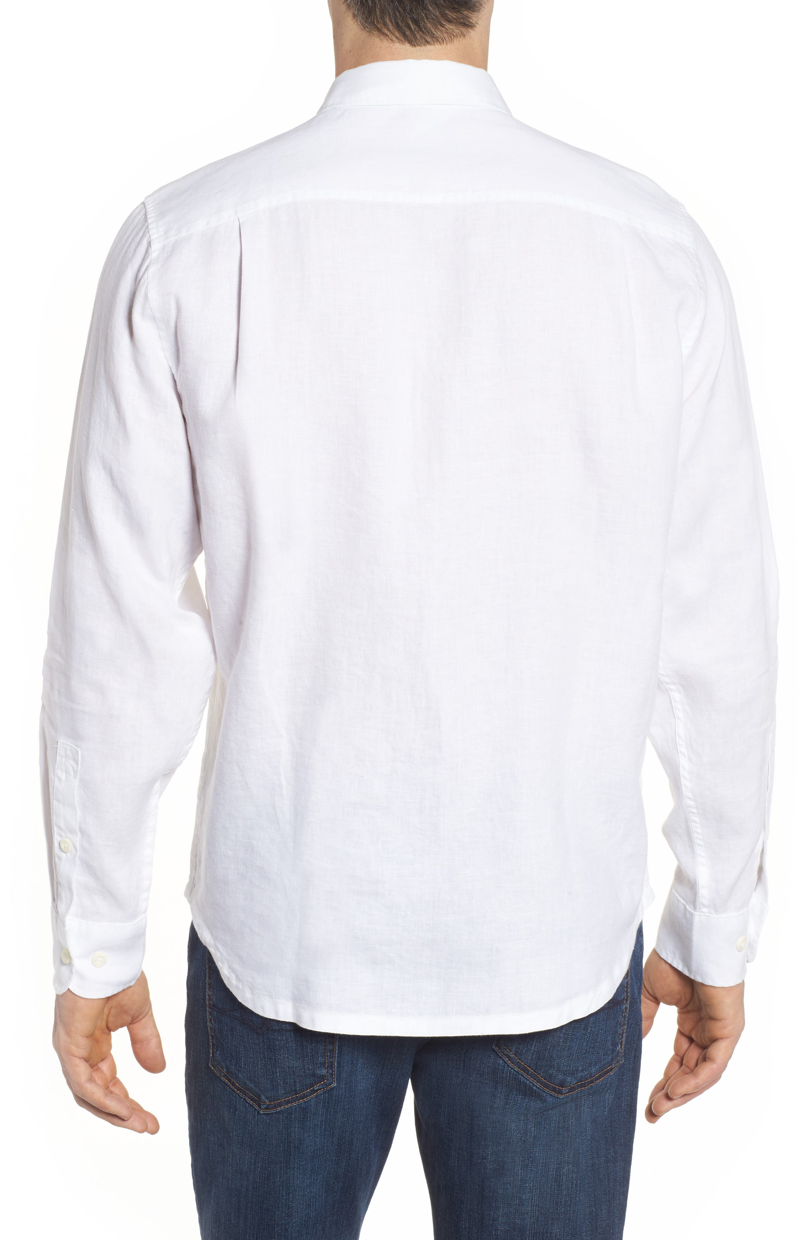 Seaspray Breezer Linen Shirt,                             Alternate thumbnail 5, color,