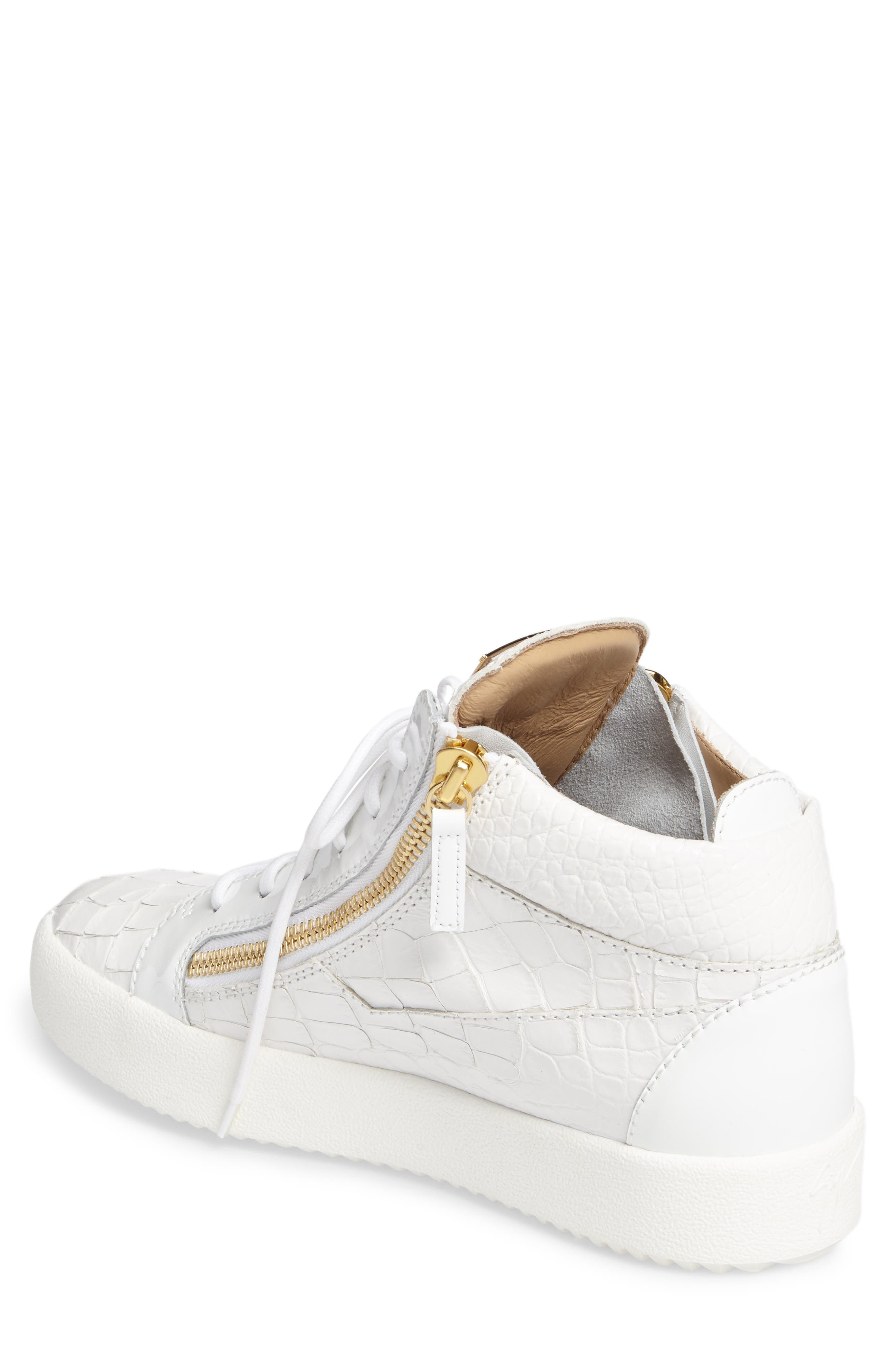 Mid Top Sneaker,                             Alternate thumbnail 2, color,                             WHITE