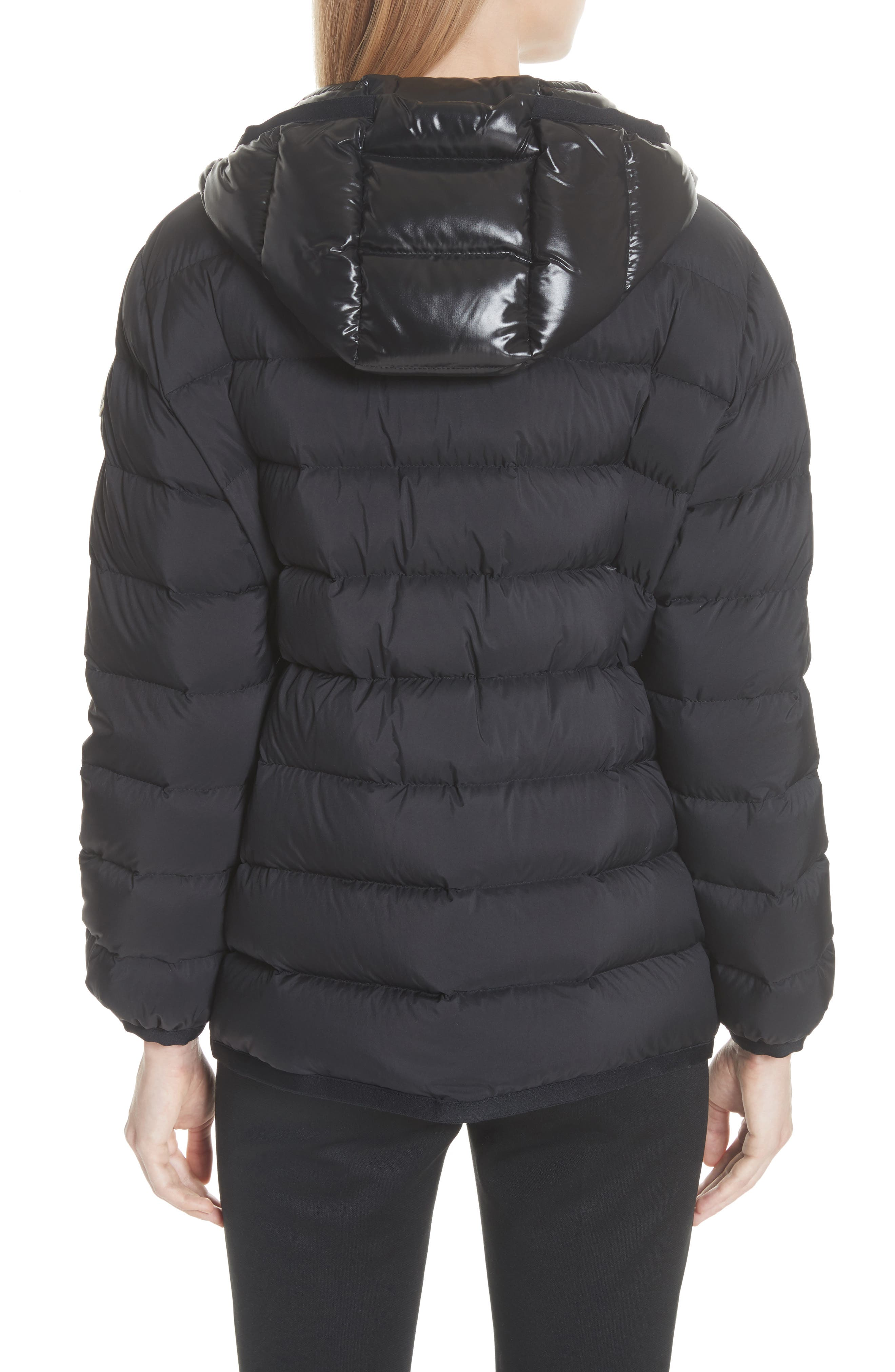 Goeland Quilted Down Jacket,                             Alternate thumbnail 3, color,                             BLACK