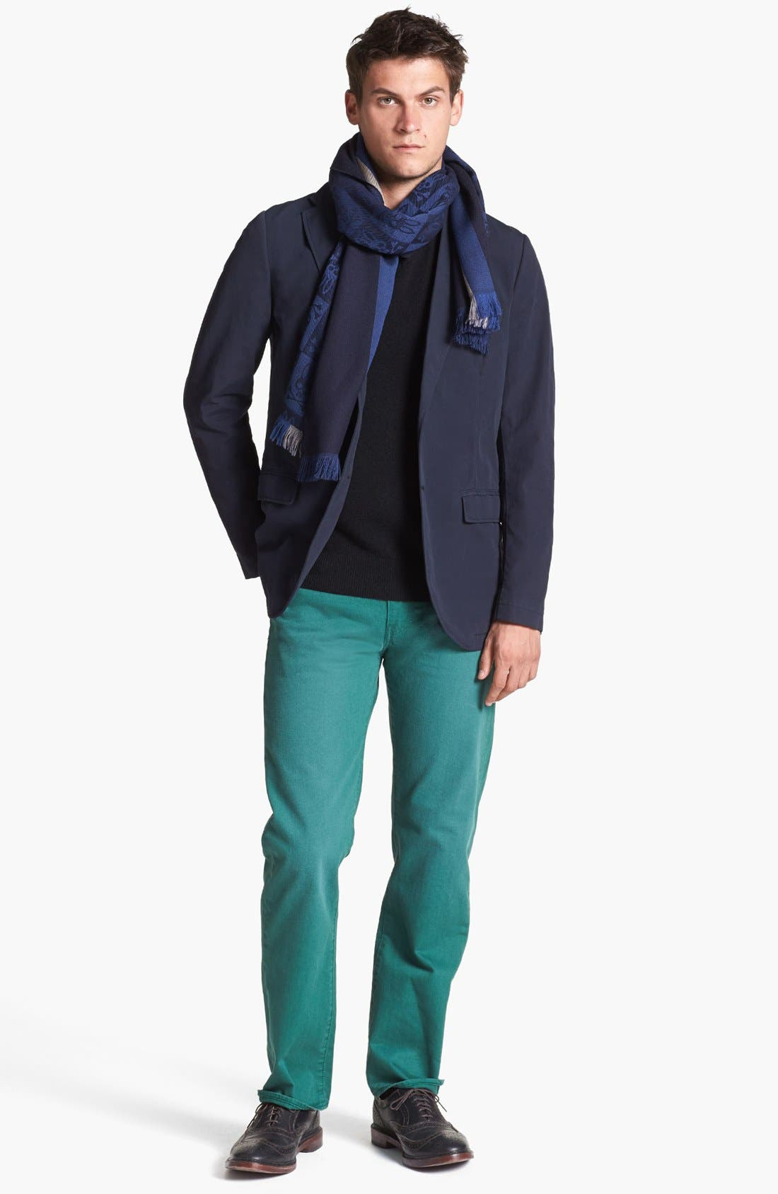 Cashmere V-Neck Sweater,                             Alternate thumbnail 3, color,                             001