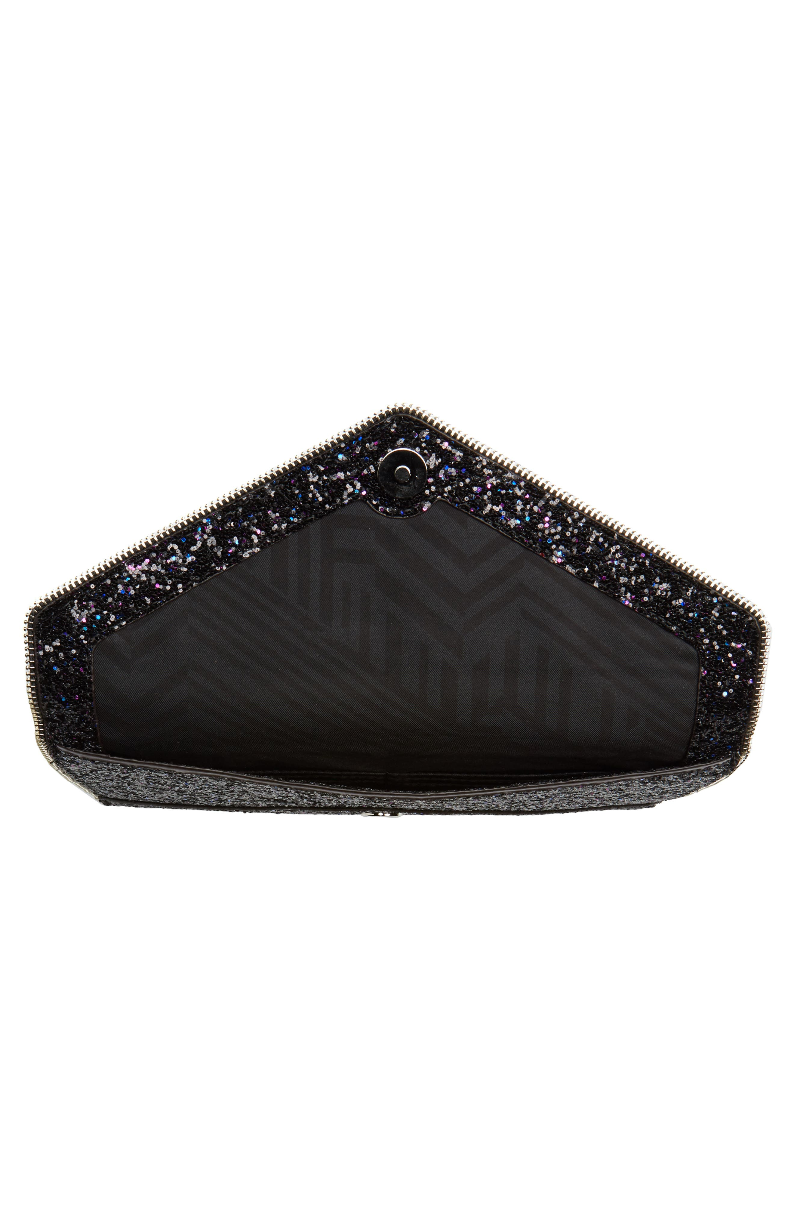 Leo Glitter Envelope Clutch,                             Alternate thumbnail 4, color,                             501