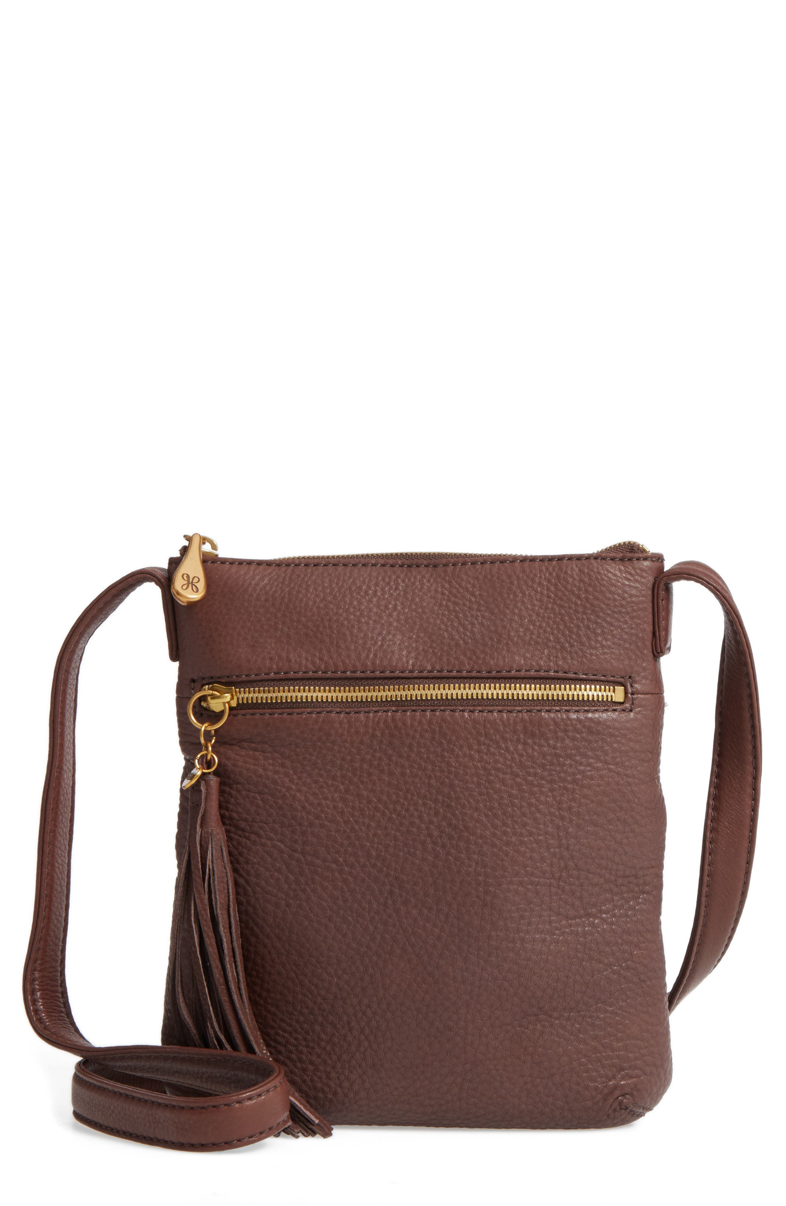 'Sarah' Leather Crossbody Bag,                             Main thumbnail 4, color,