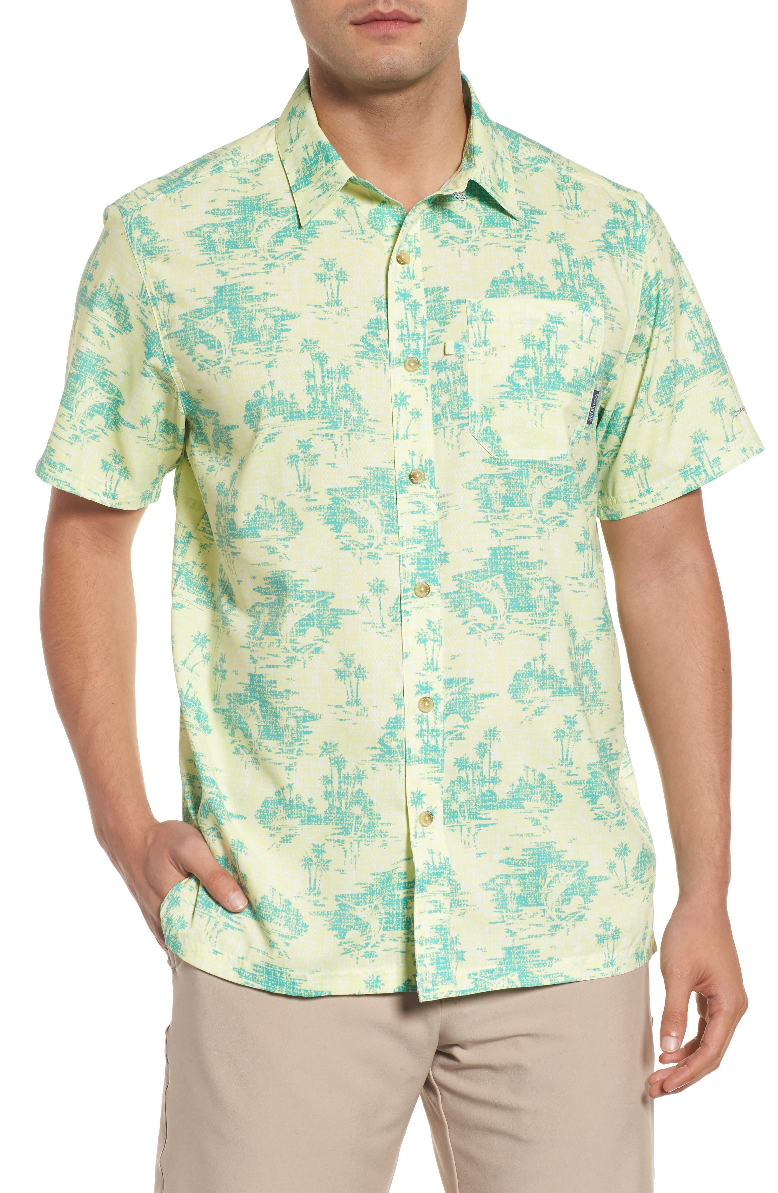 Super Slack Tide Patterned Woven Shirt,                             Main thumbnail 2, color,