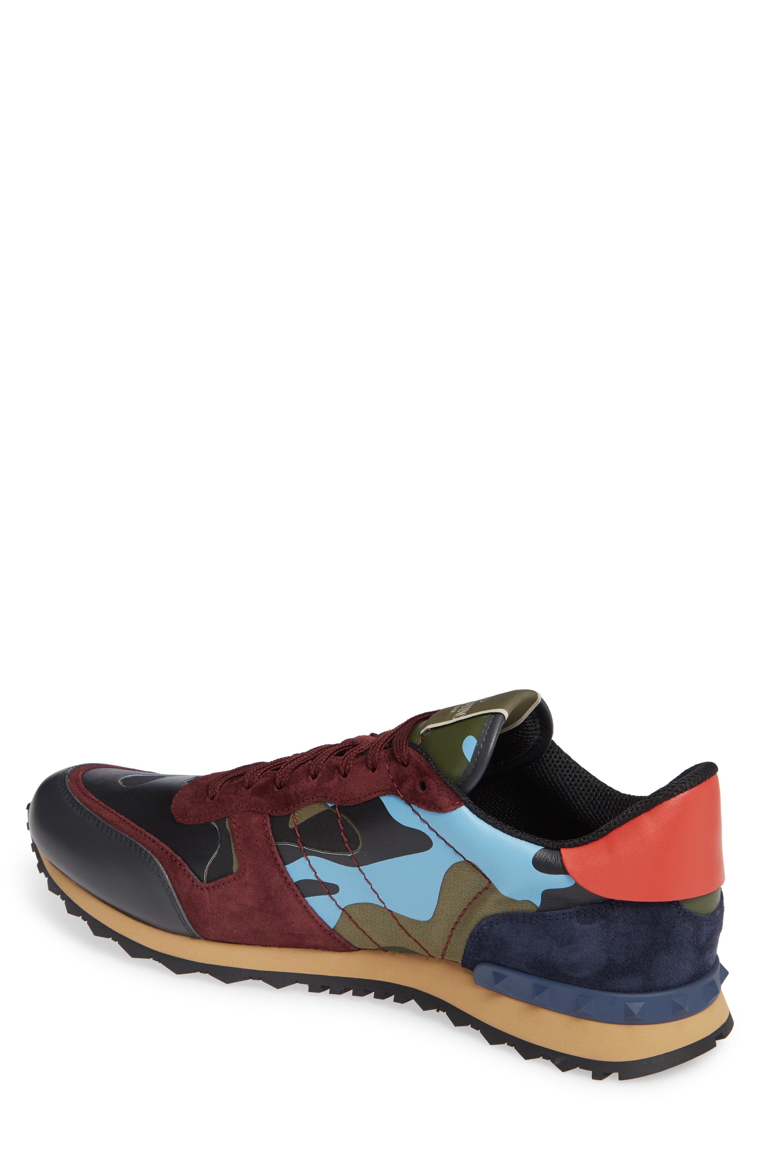 Camo Rockrunner Sneaker,                             Alternate thumbnail 2, color,                             LIGHT BLUE/ BORDEAUX