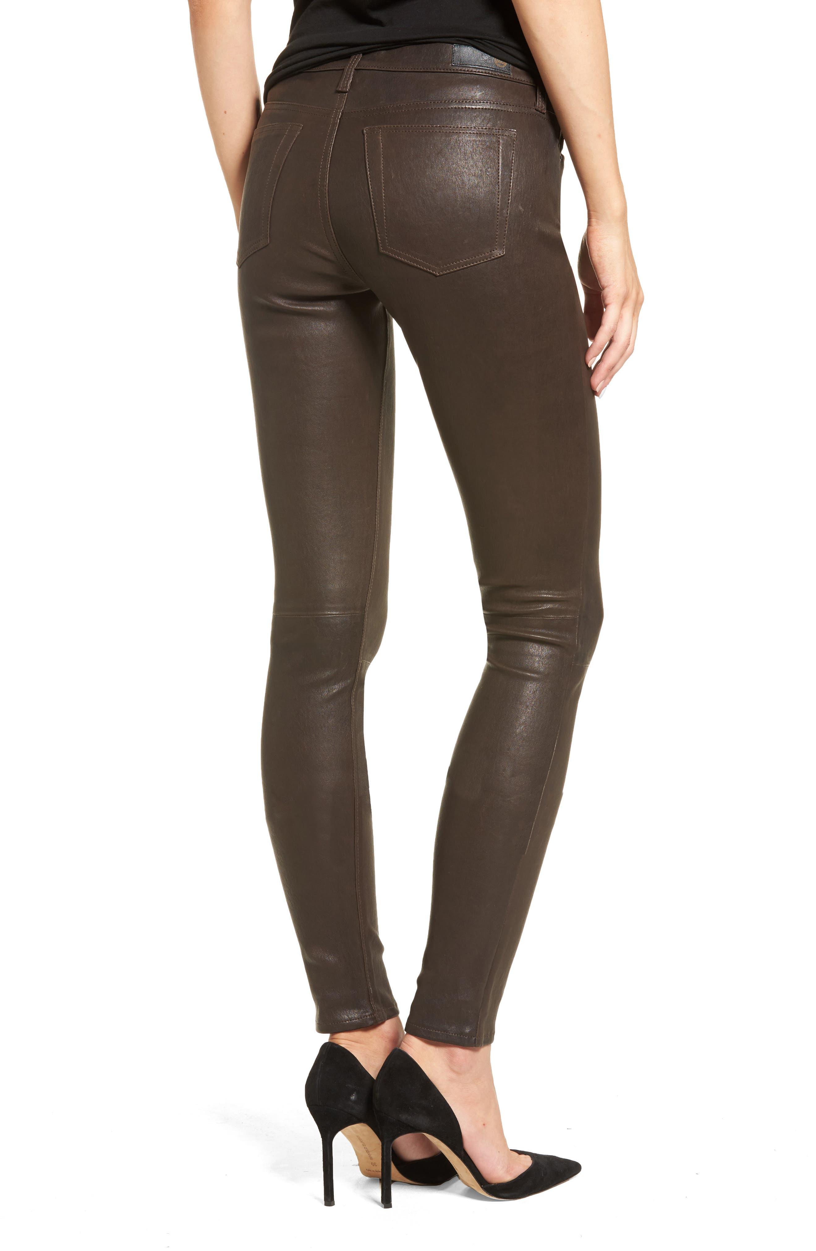 AG,                             The Legging Super Skinny Leather Pants,                             Alternate thumbnail 2, color,                             248