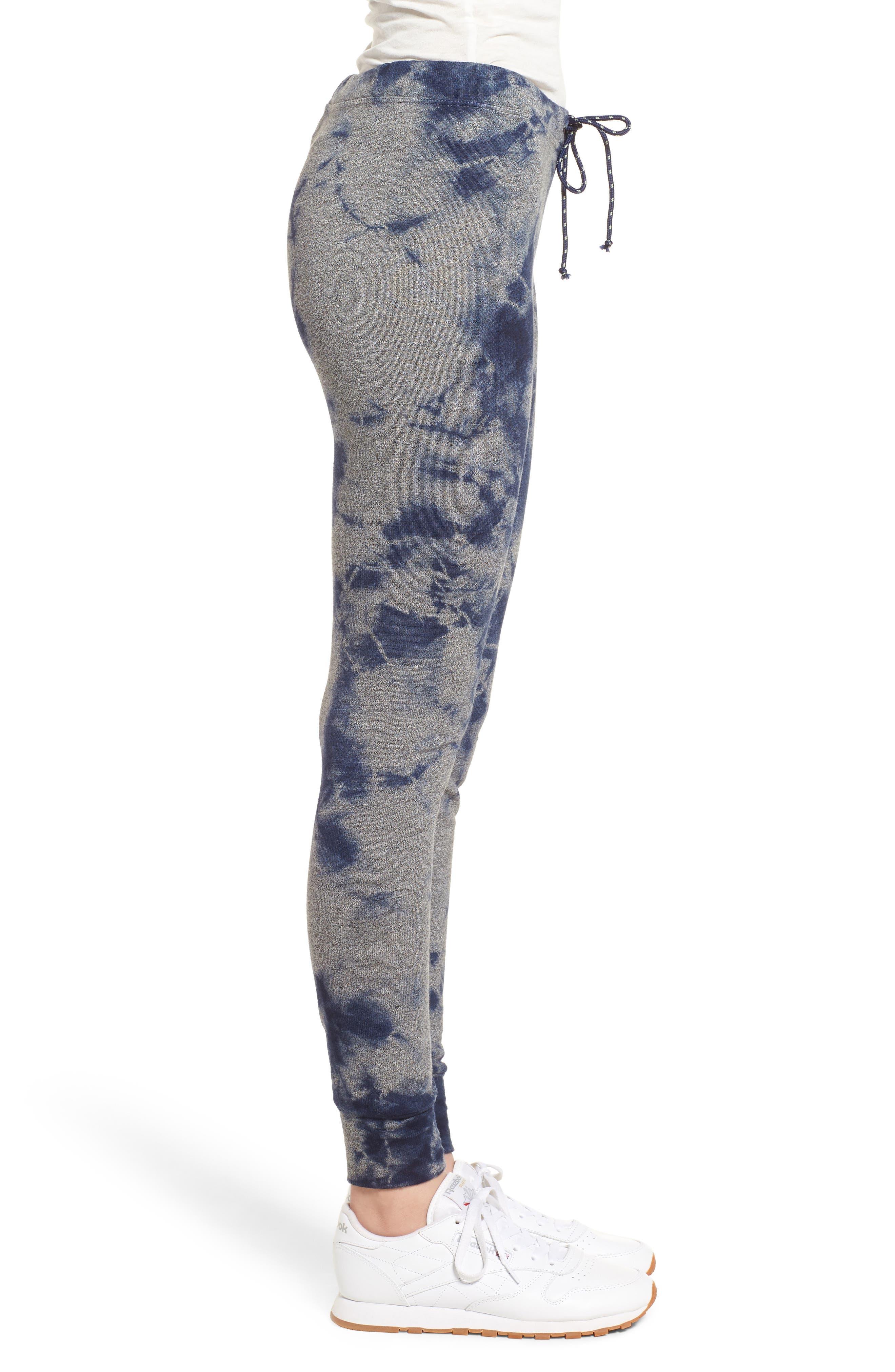 Tie Dye Skinny Sweatpants,                             Alternate thumbnail 3, color,