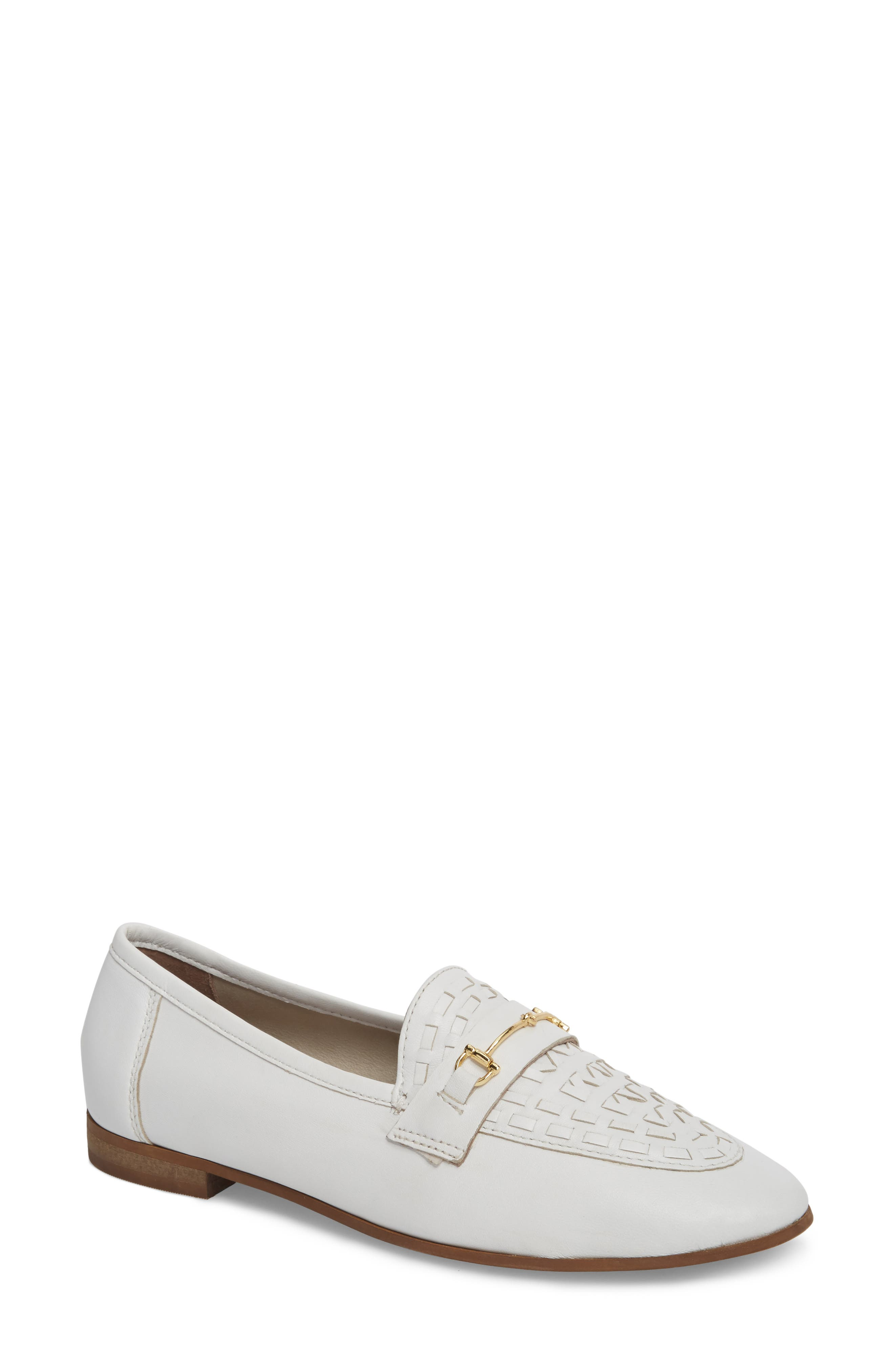 Kingley Woven Loafer,                             Main thumbnail 1, color,                             WHITE