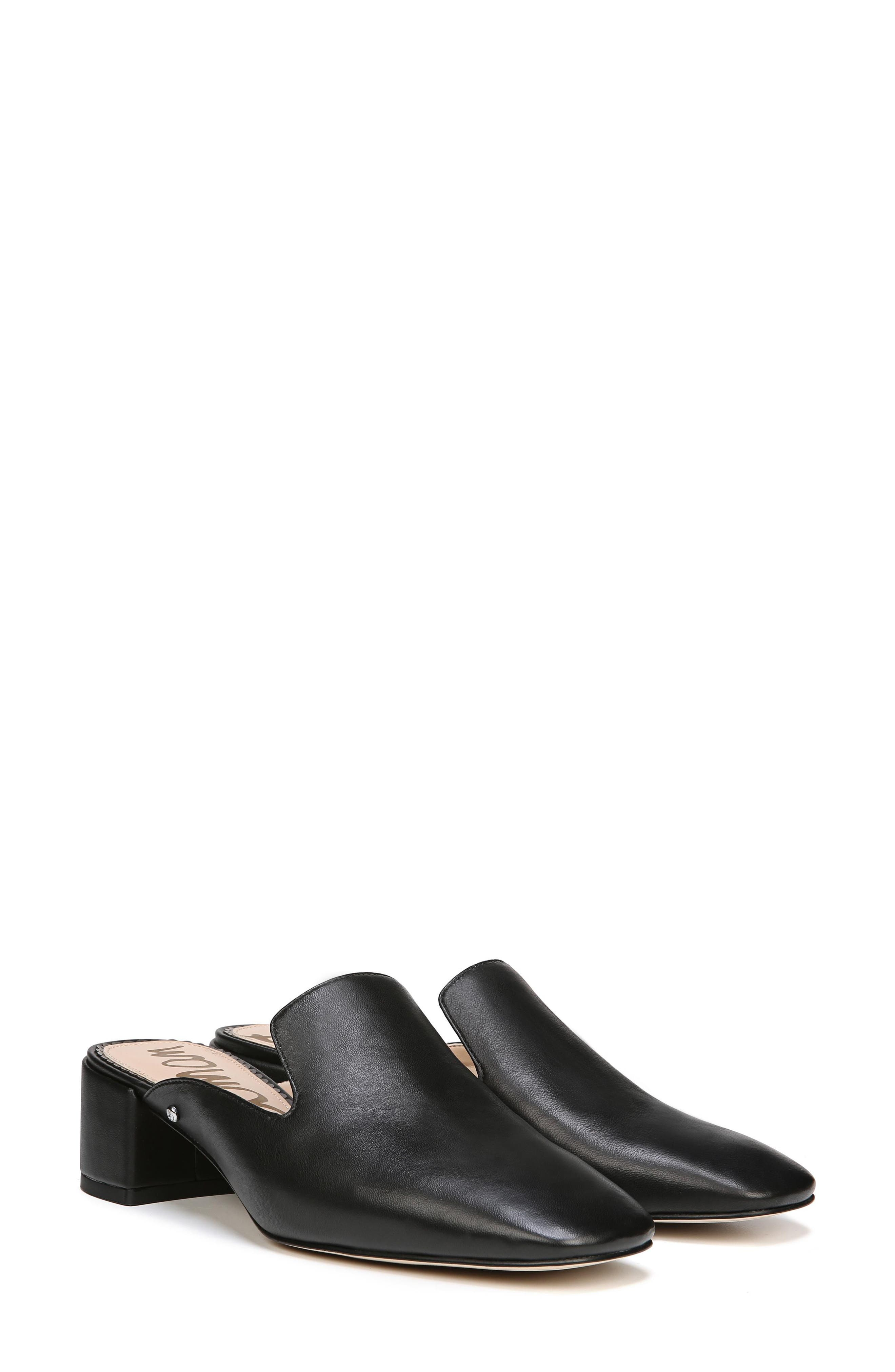 Adair Loafer Mule,                             Alternate thumbnail 8, color,                             BLACK LEATHER